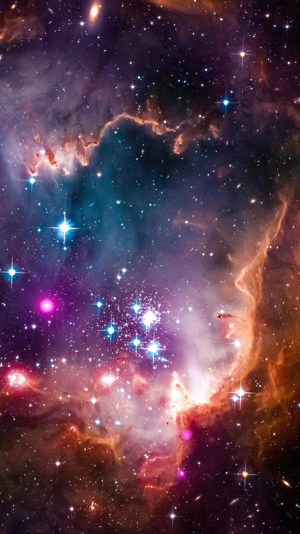 Fond d 39 cran espace galaxie verticale affichage du for Fond ecran portrait