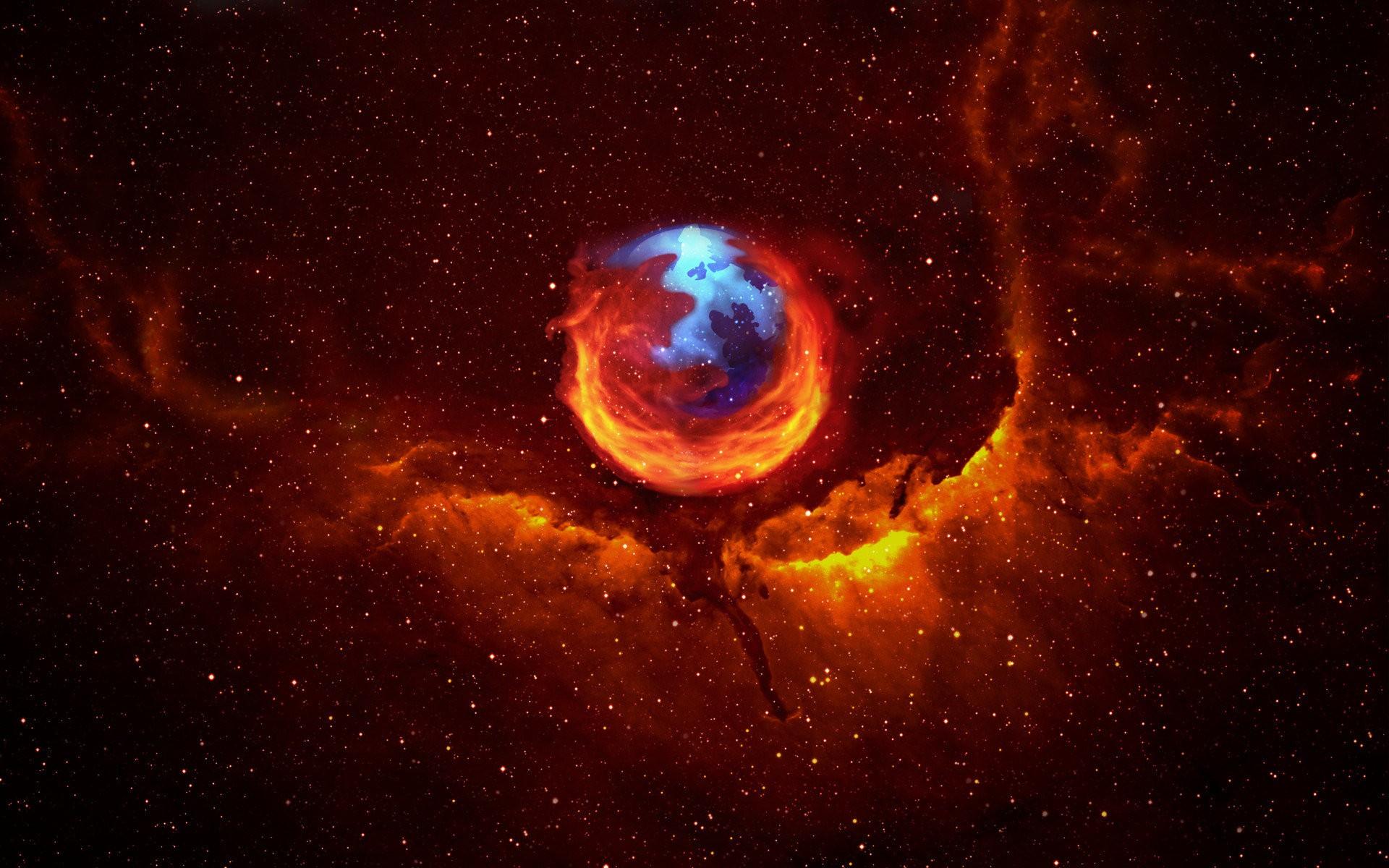 wallpaper : internet, nebula, atmosphere, universe, mozilla firefox