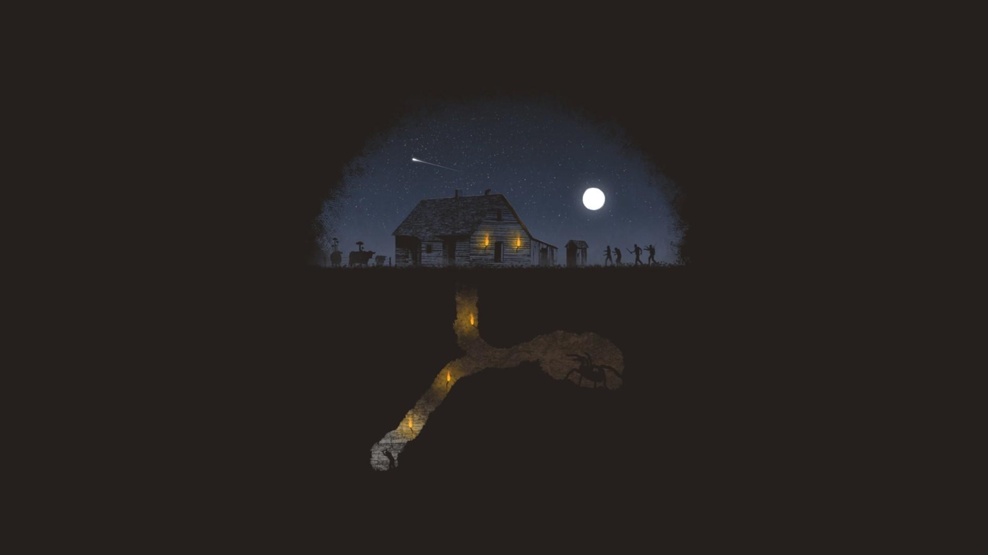 Fantastic Wallpaper Minecraft Minimalistic - space-minimalism-Earth-Moon-Minecraft-moonlight-atmosphere-zombies-spider-darkness-screenshot-1920x1080-px-computer-wallpaper-atmosphere-of-earth-561875  Picture_894020.jpg