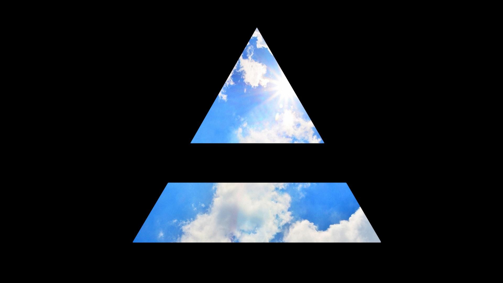 Картинка треугольник в небе