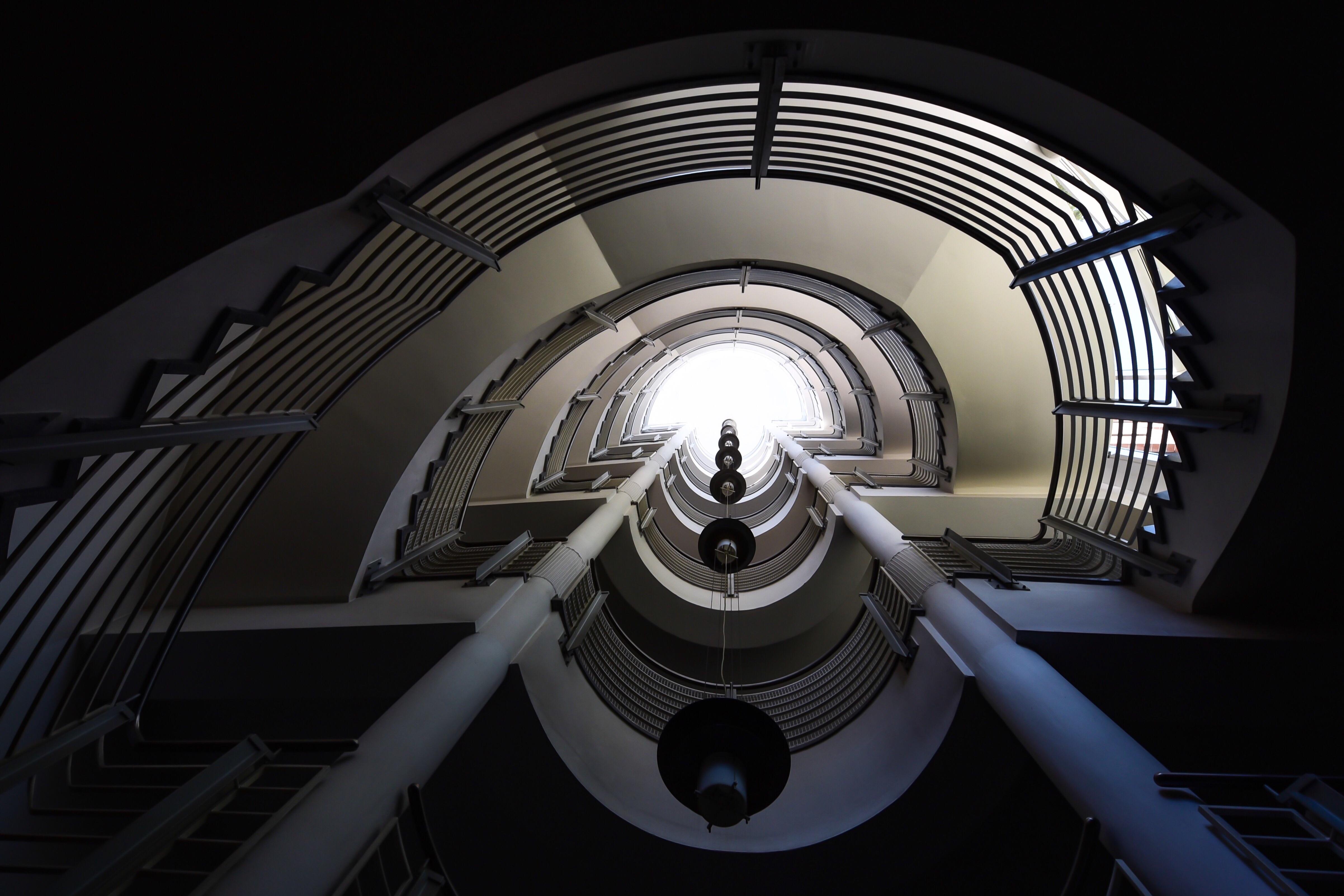 Modele D Escalier Peint fond d'écran : espace, spirale, symétrie, cercle, nikon