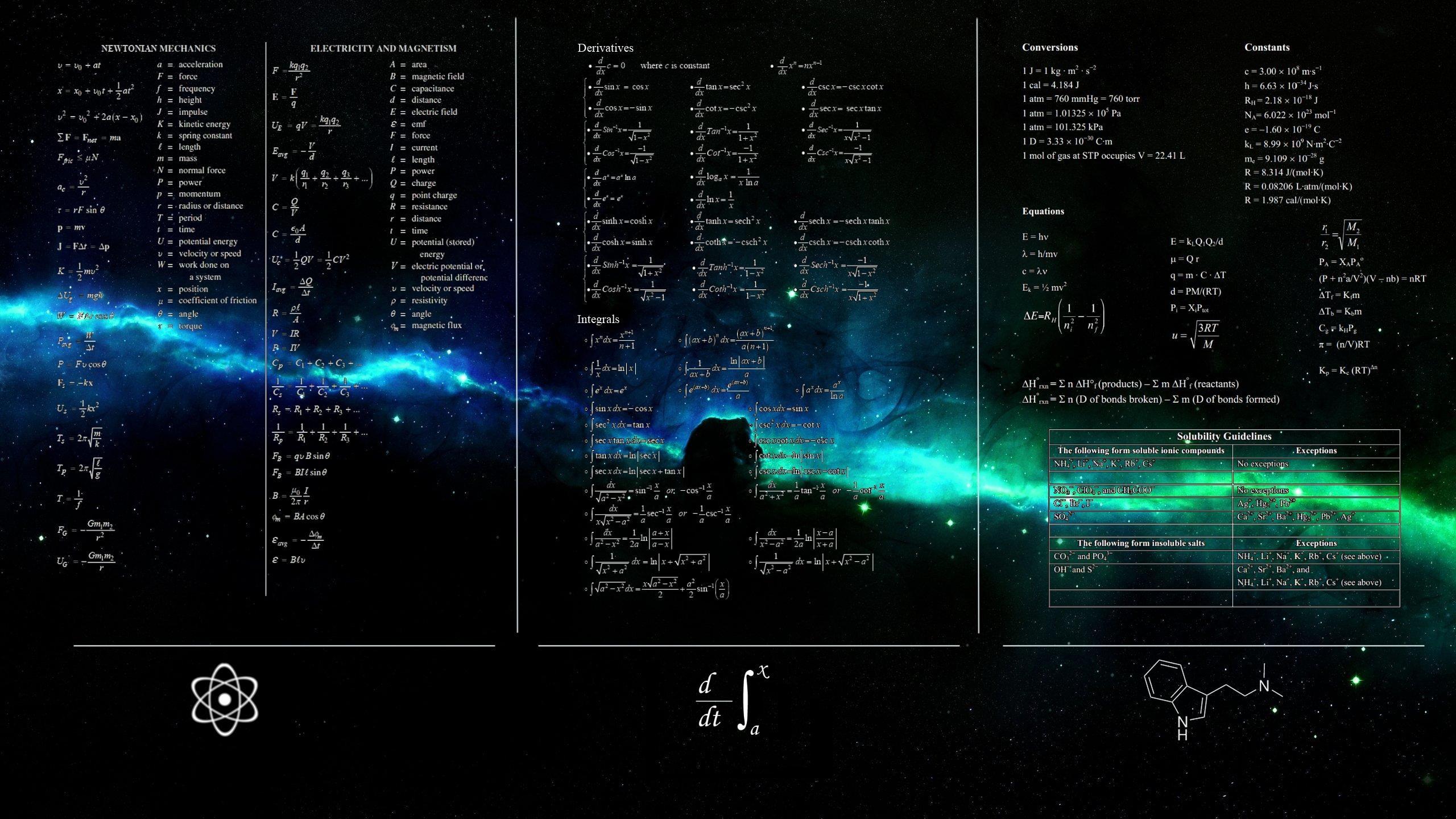 デスクトップ壁紙 スペース テキスト 数学 スクリーンショット