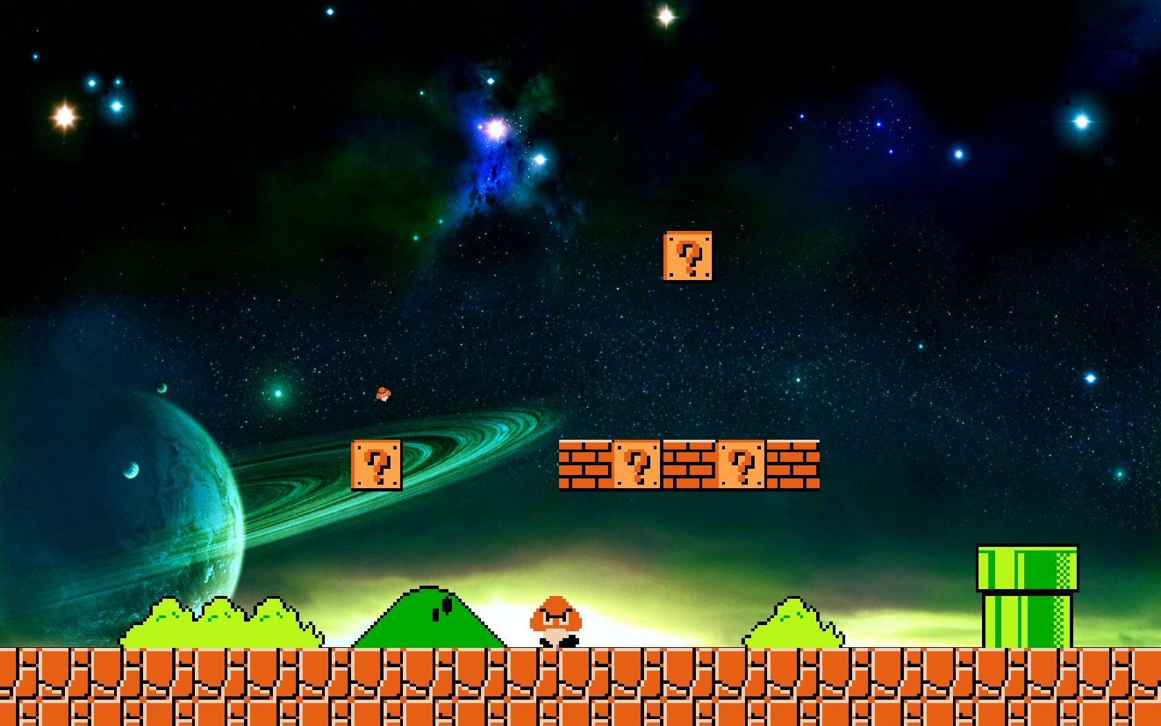 Hintergrundbilder : Platz, Universum, Super Mario Bros ...