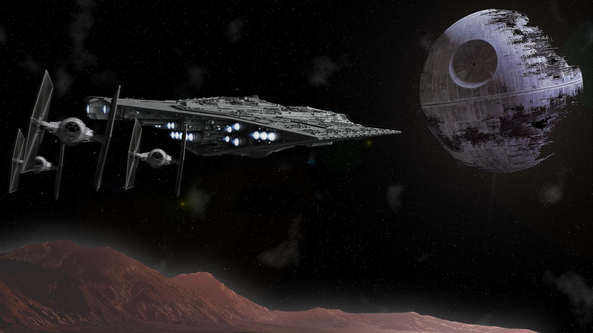 Wallpaper Spaceship Star Wars Tie Fighter Death Star 1920x1080 Deltaprime 1156428 Hd Wallpapers Wallhere