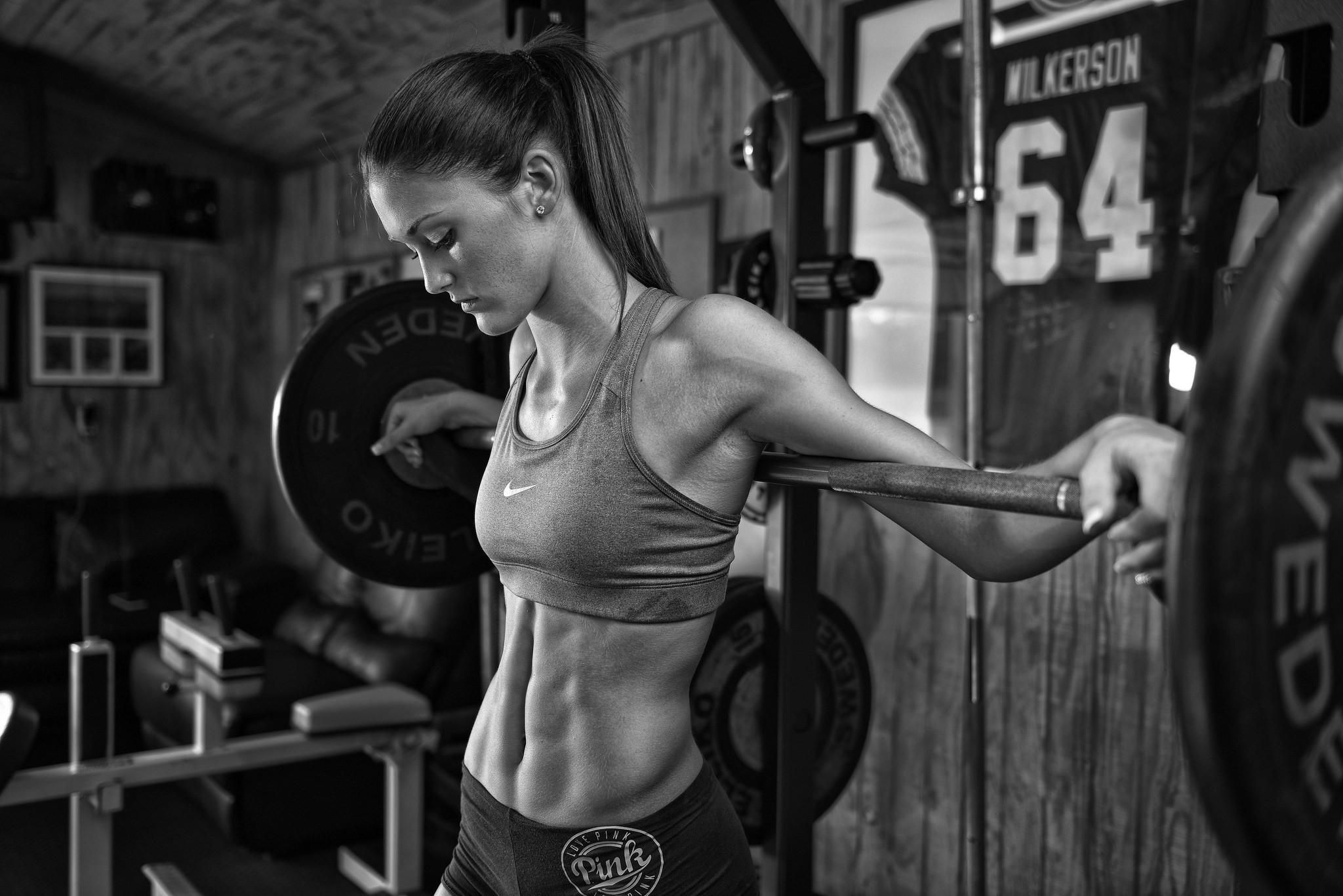 Wallpaper sports women room fitness model crossfit