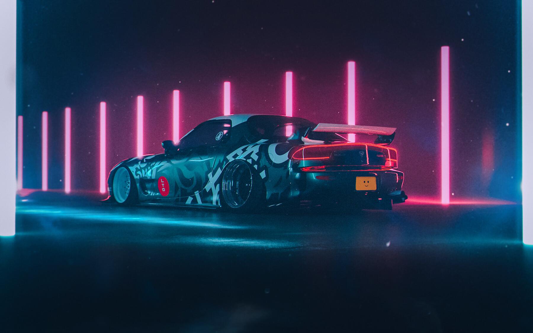 Wallpaper Sports Car Retro Car Neon 1800x1126 Elizium