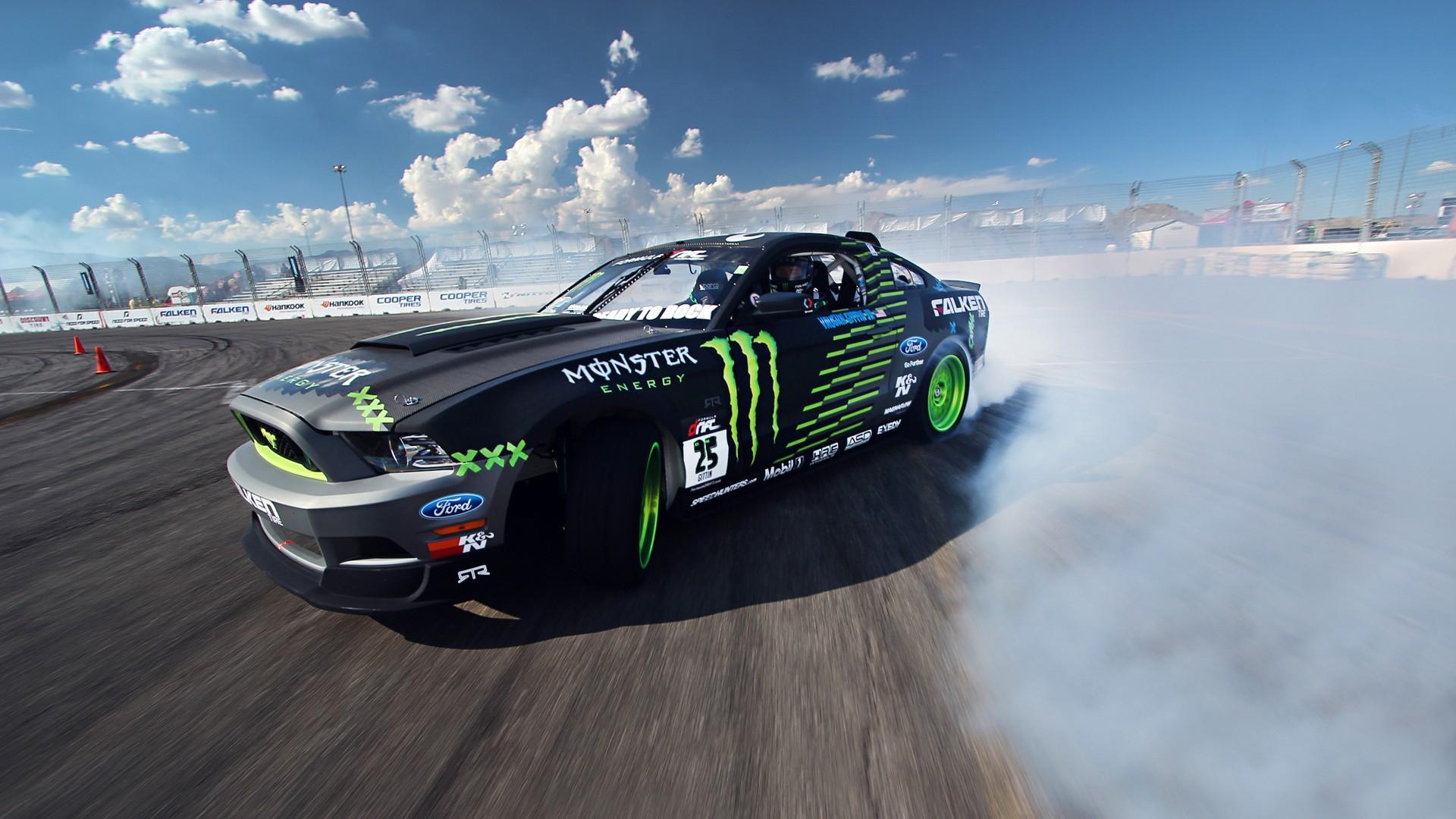 Wallpaper Sports Vehicle Ford Mustang Drifting Drift Monster