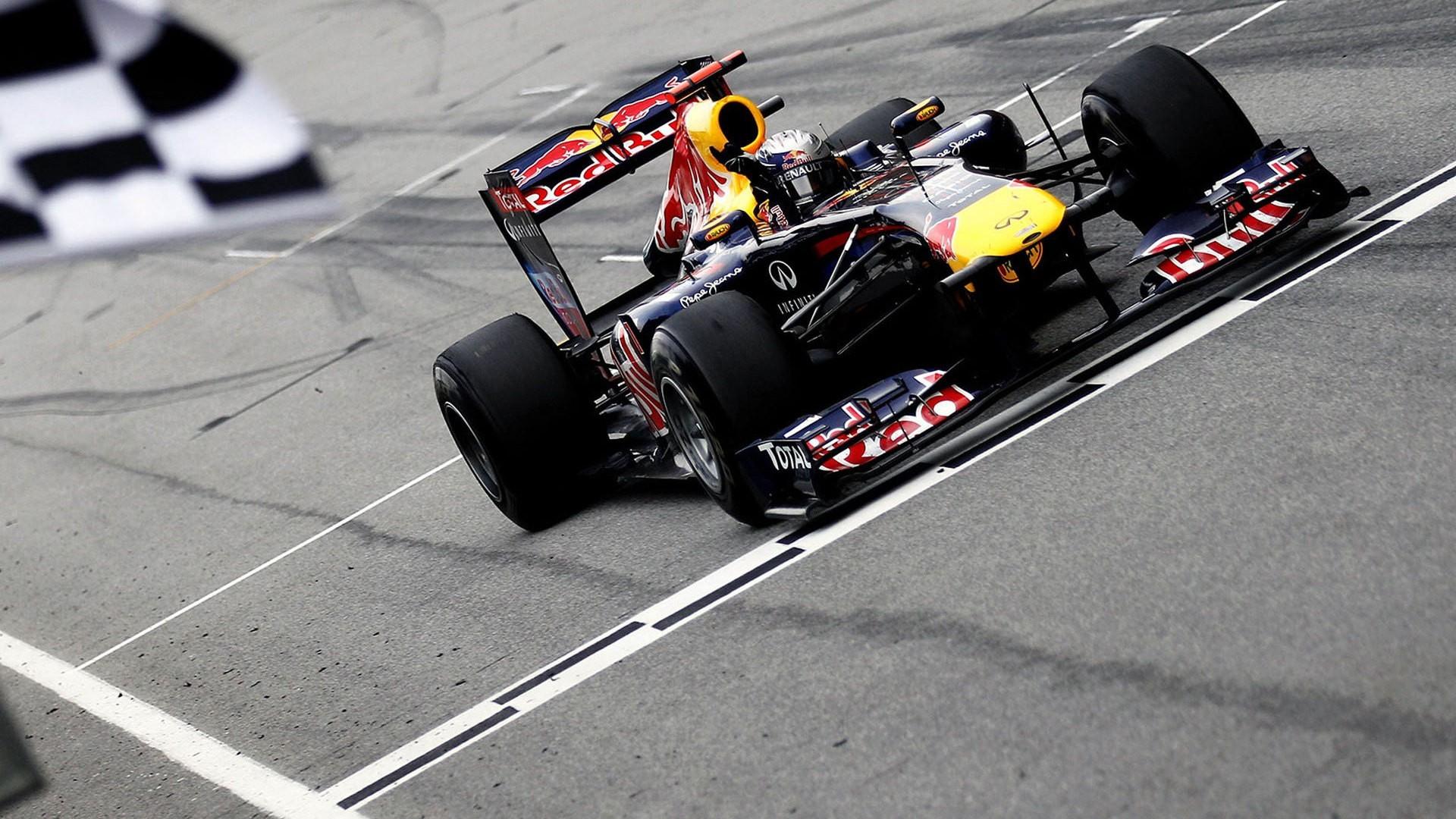 Wallpaper Kendaraan Mewarnai Selektif Formula 1 Red Bull Racing