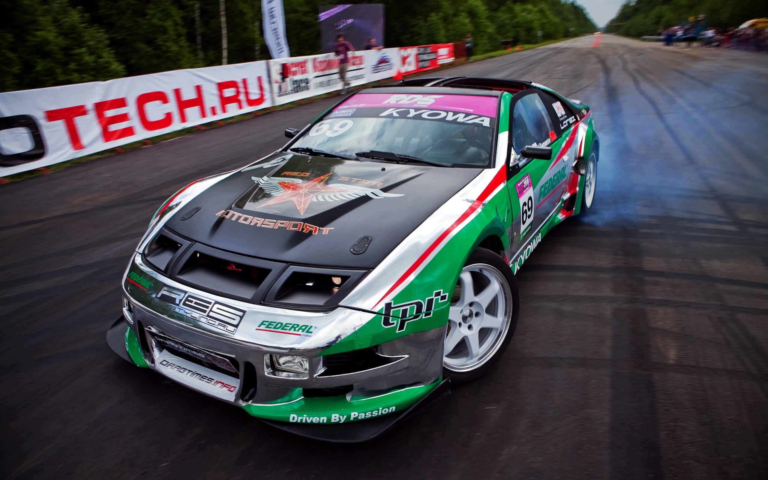 Wallpaper : vehicle, sports car, drift, Nissan 300ZX ...