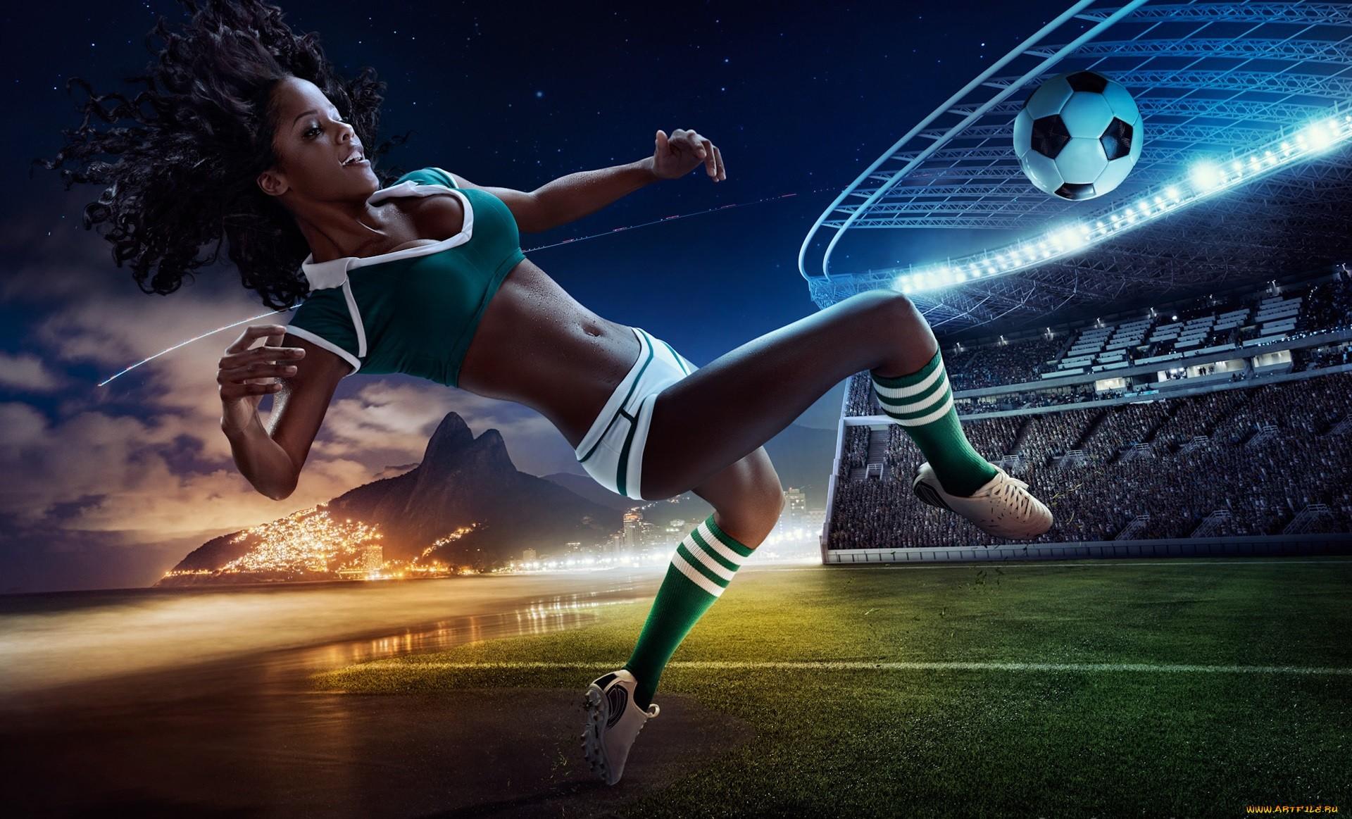 Soccer Girls Wallpaper Free: Wallpaper : Sports, Digital Art, Women, Model, Jumping