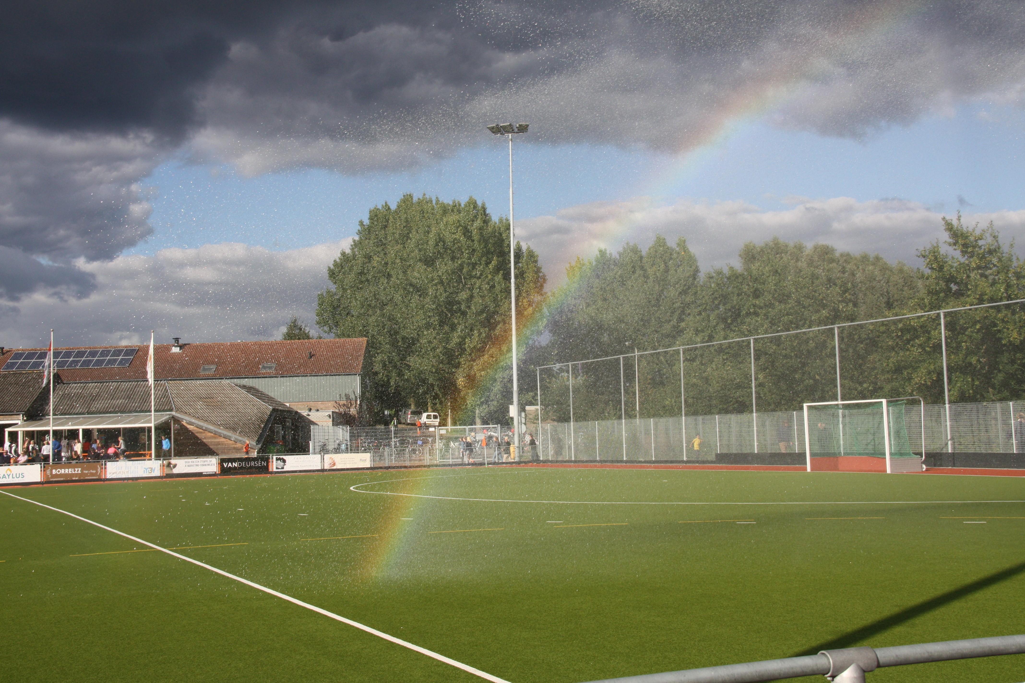 Hintergrundbilder Sport Gras Regenbogen Fussball