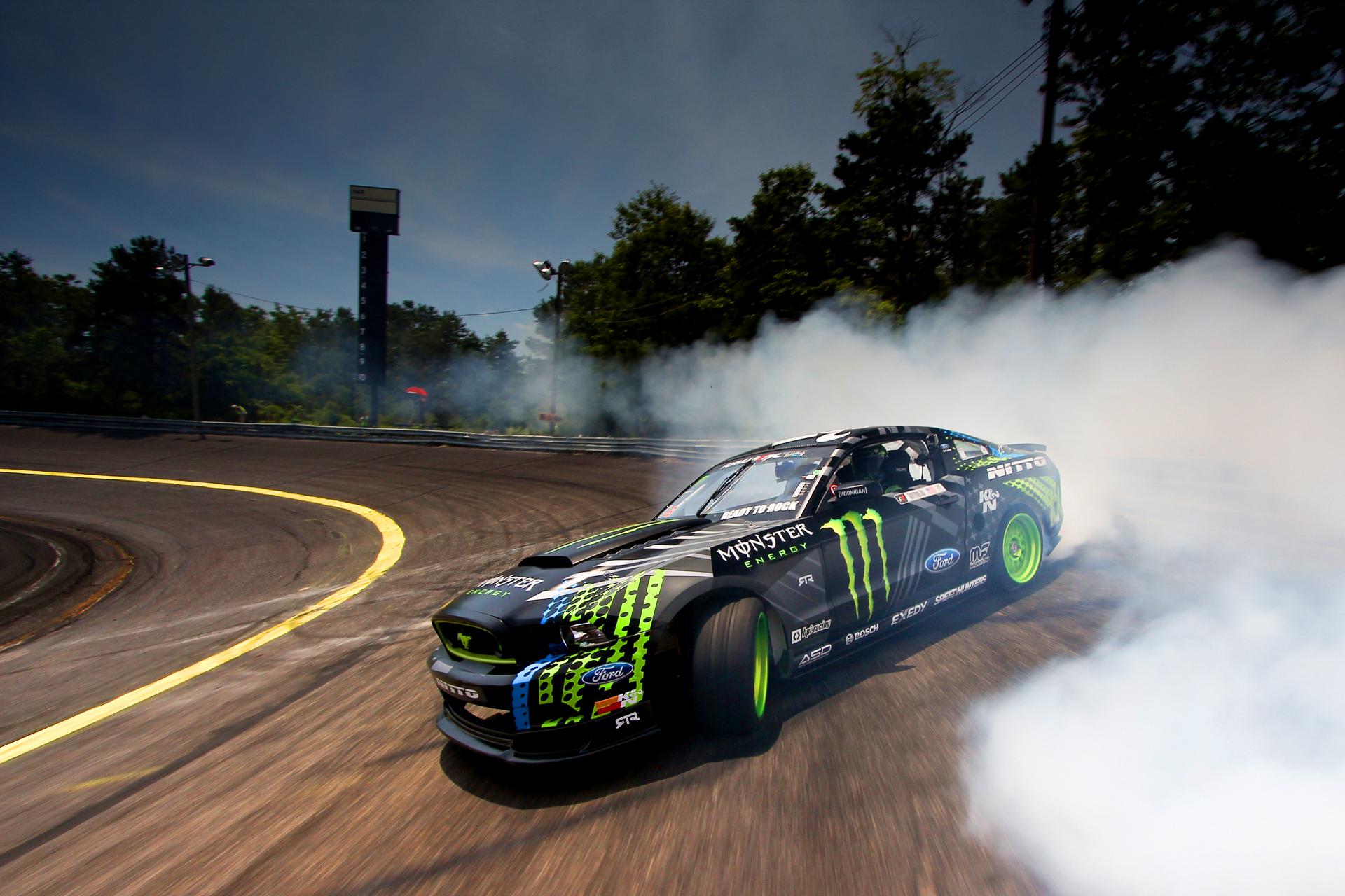 Wallpaper Race Cars Smoke Ford Mustang Sports Car Drift Race