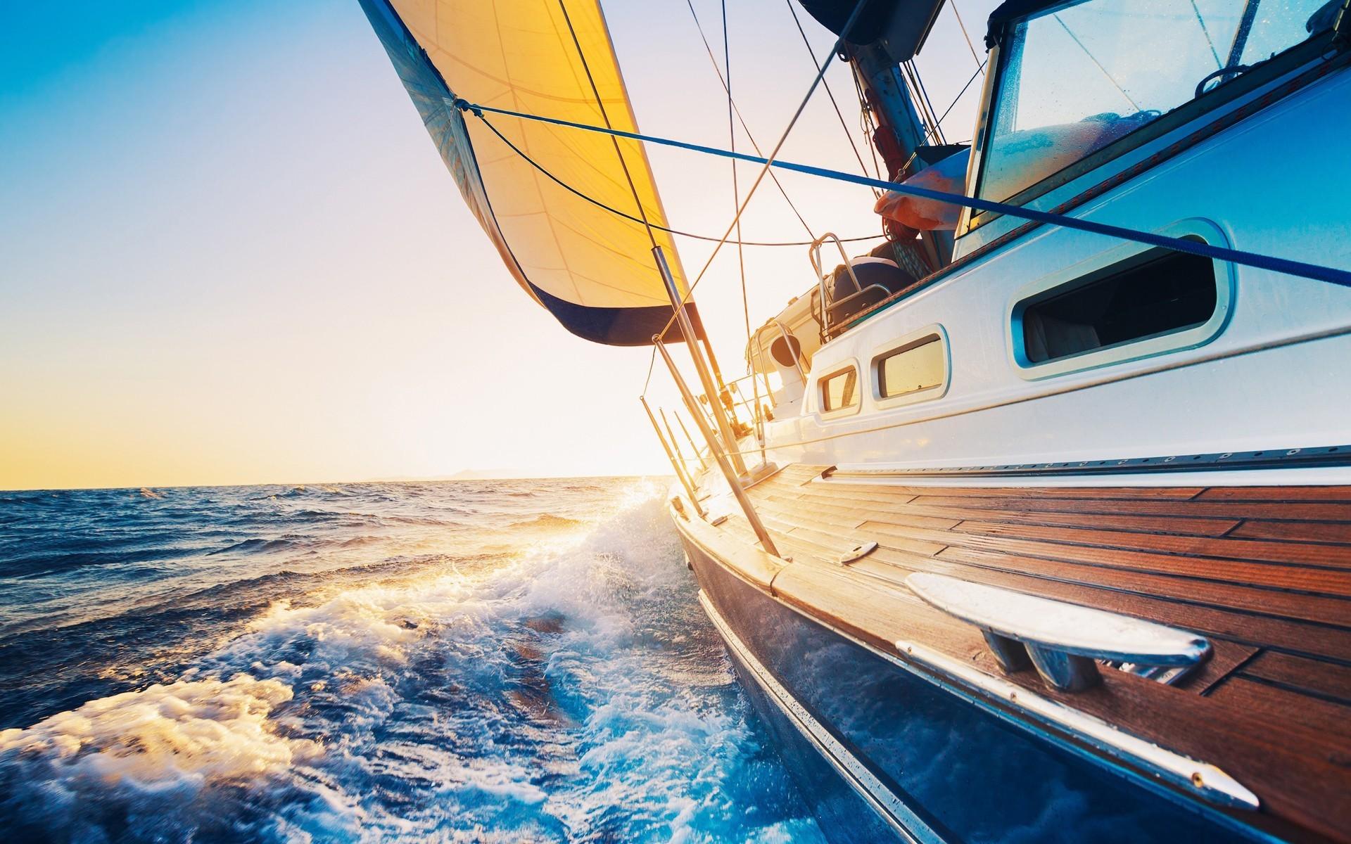 Яхта море картинки