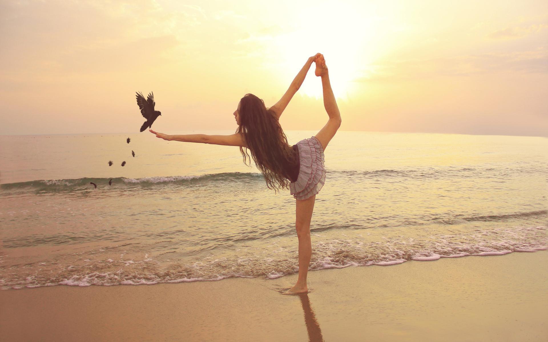 Lange haare yoga