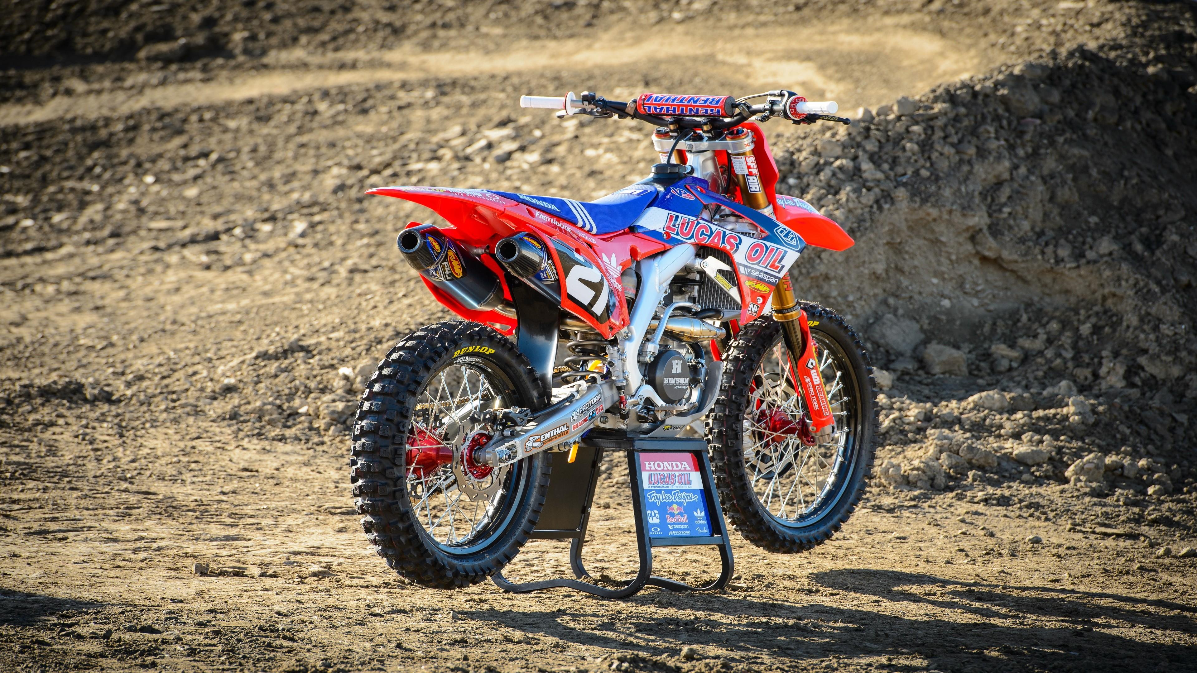 Sports Vehicle Honda Motocross Racing Motorsports Enduro Dirt Bikes Troy Lee Motorsport 3840x2160 Px Stunt Performer