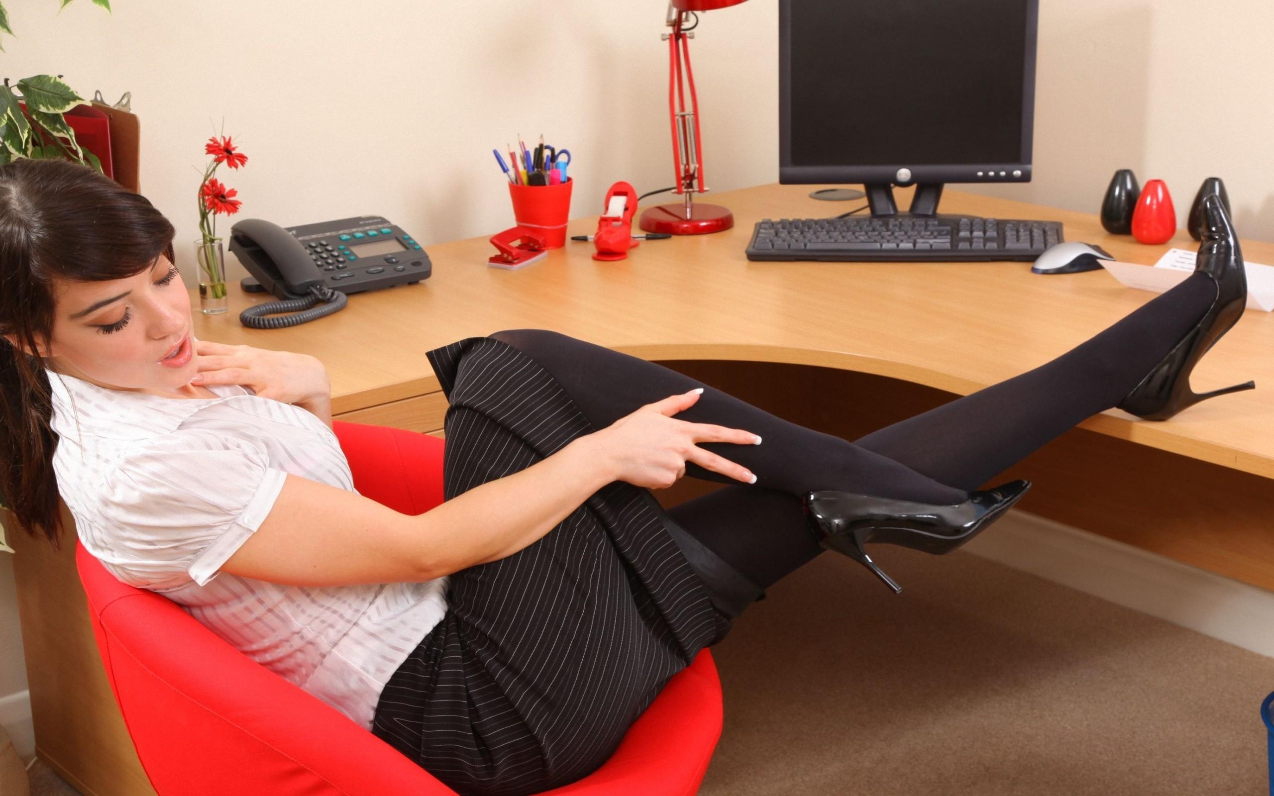 Ohne Slip Im Büro