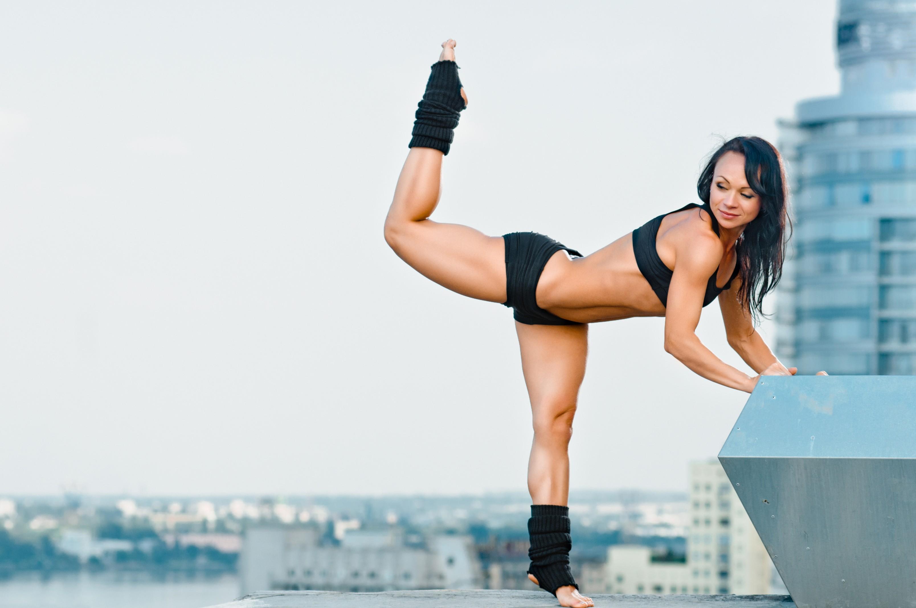 Wallpaper  Women, Fitness Model, Yoga, Sports Bra -7964