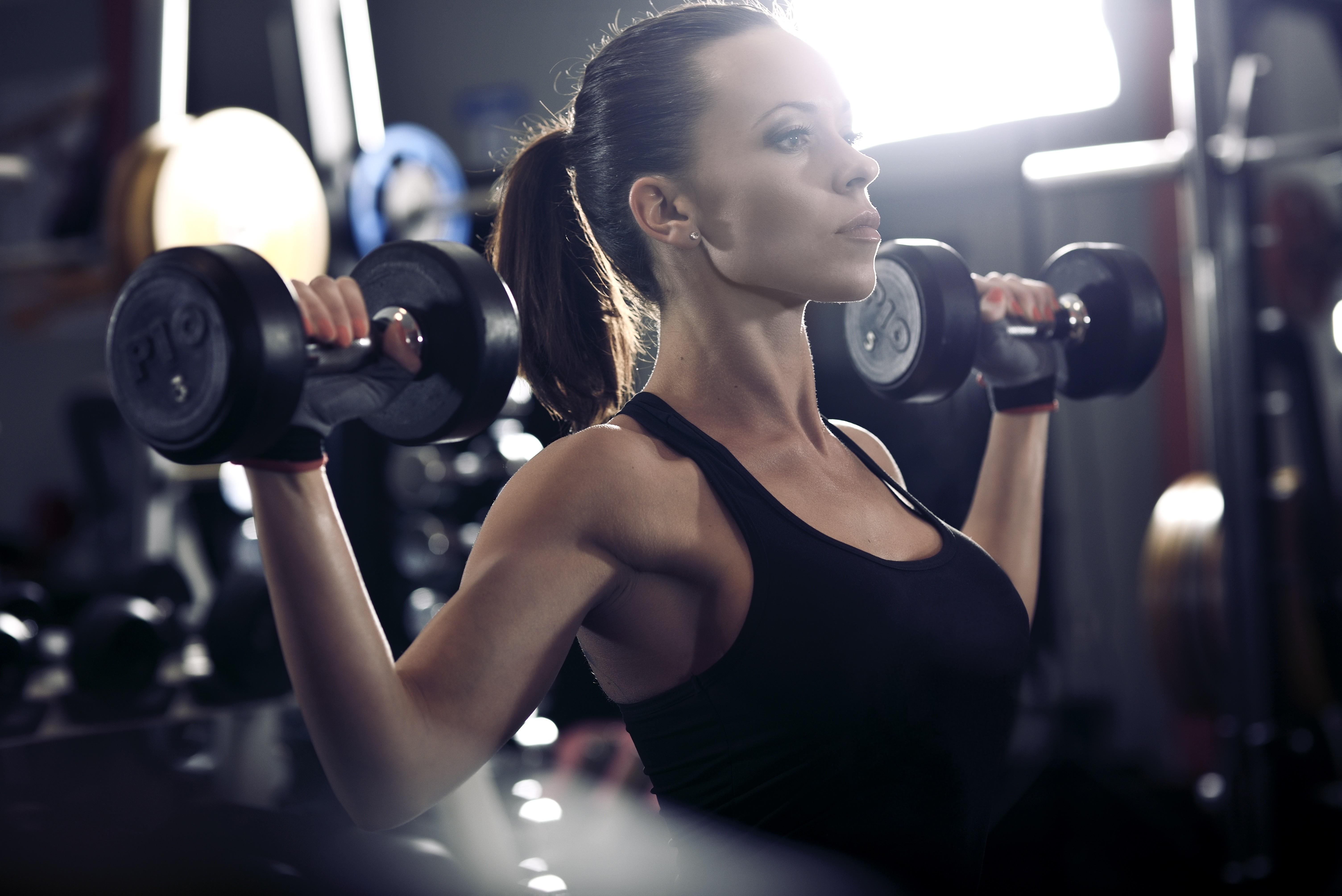 Wallpaper sports women room fitness model ponytail - Wallpaper fitness women ...