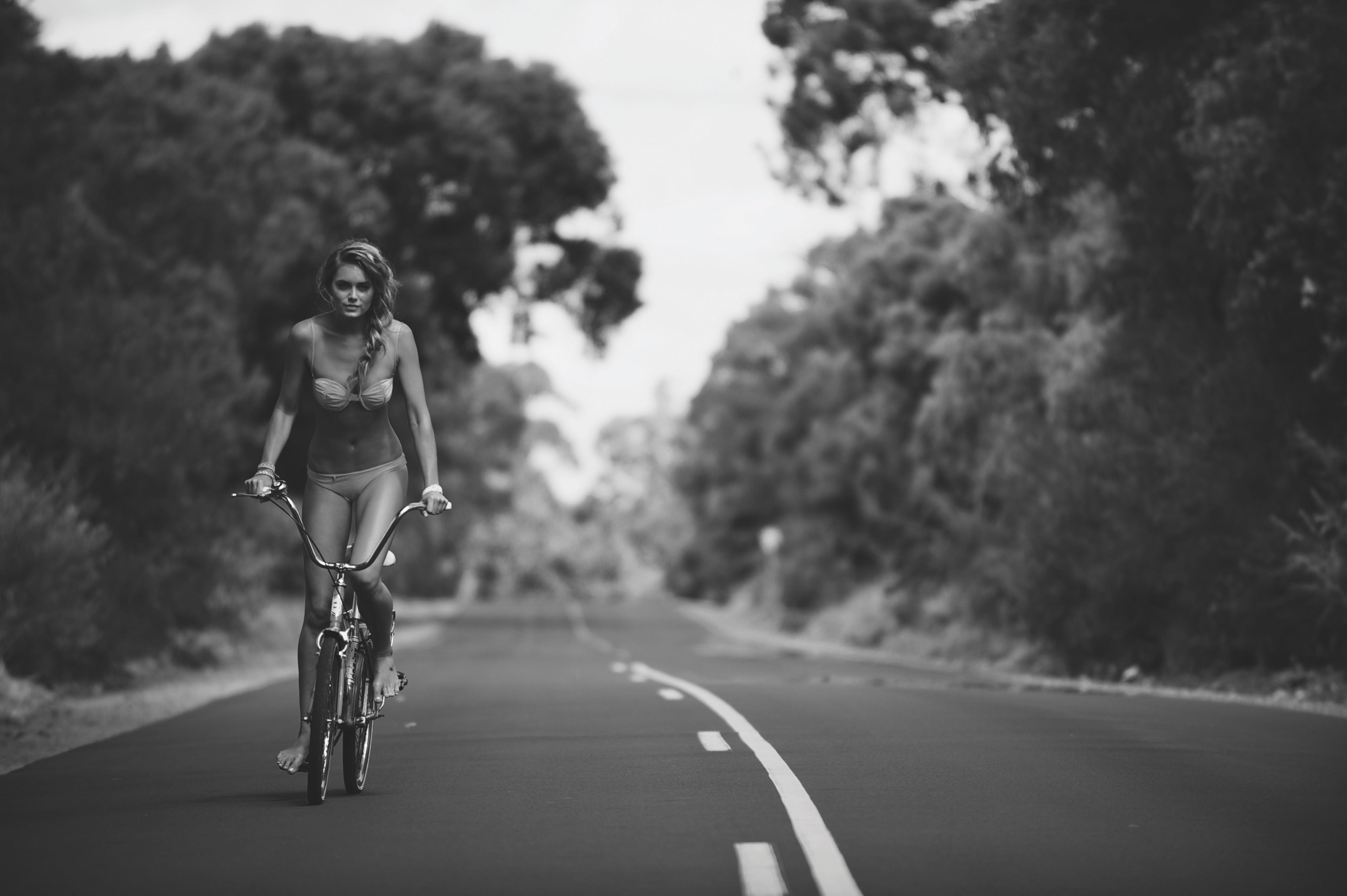 Wallpaper Sports Women Model Bicycle Vehicle Bikini