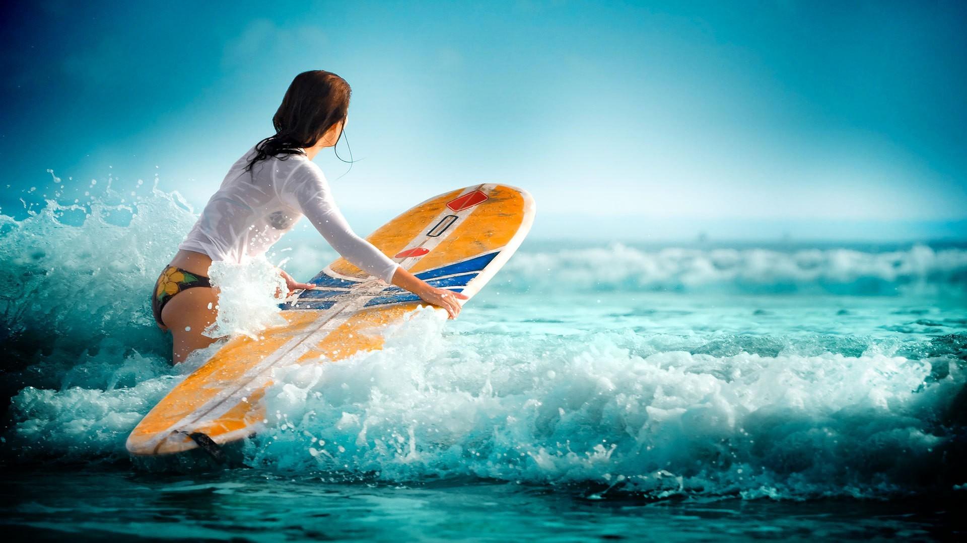 デスクトップ壁紙 女性 ウィンドサーフィン セーリング 海洋