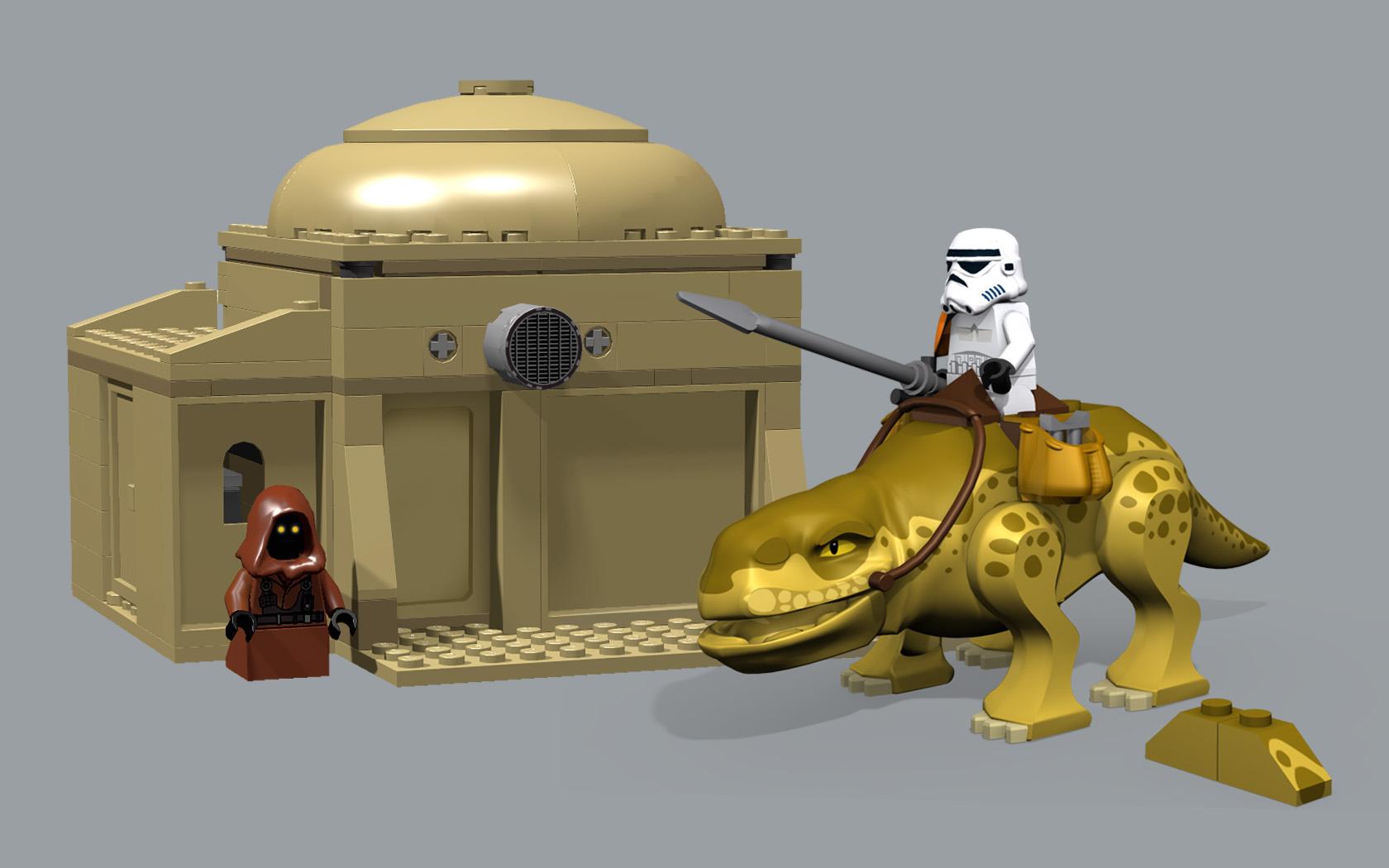 Wallpaper Star Wars Jawa Dewback Sandtrooper 1680x1050