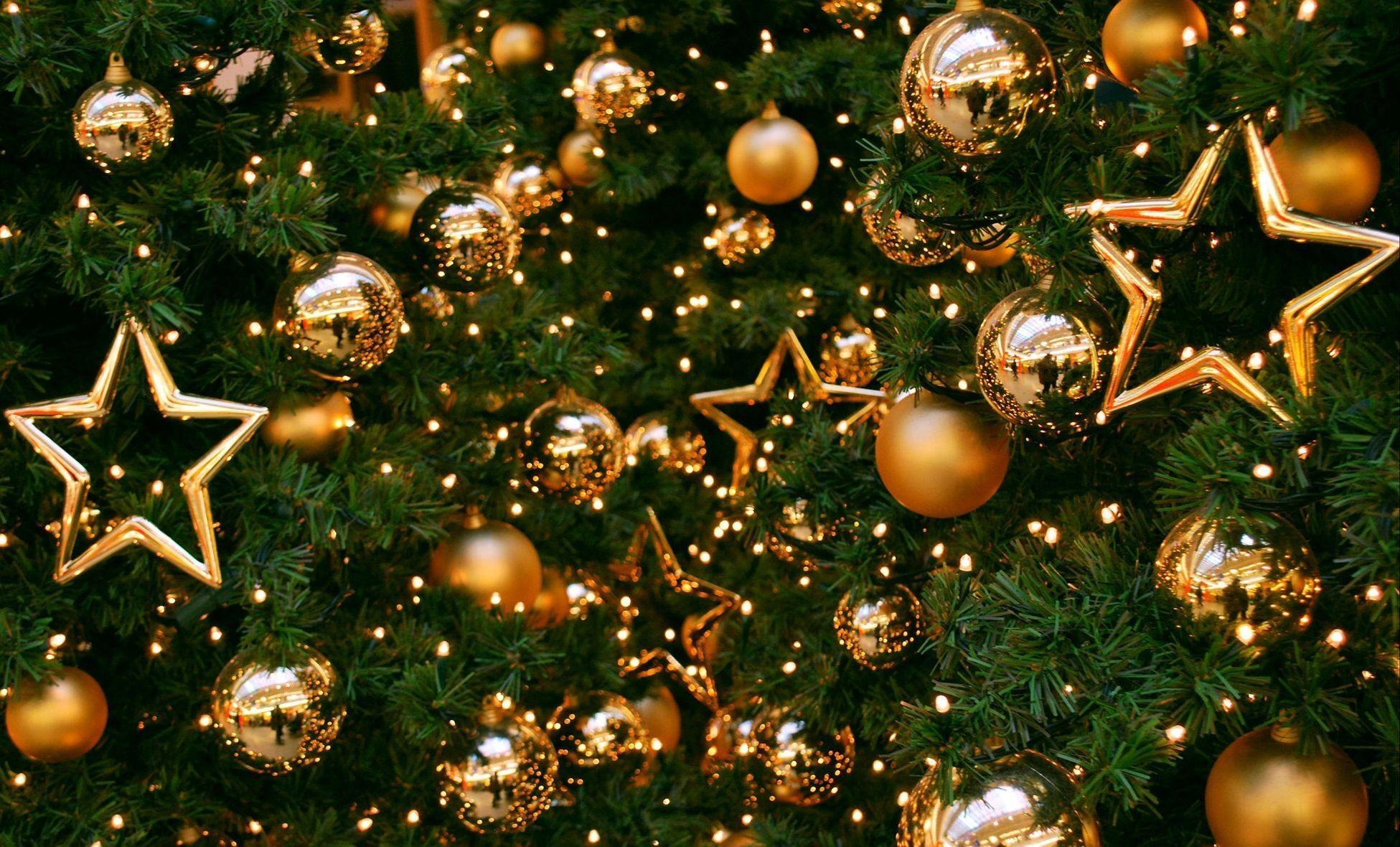 Sfondi Natalizi Oro.Sfondi Stelle Ramo Albero Di Natale Oro Vacanza Nuovo Anno