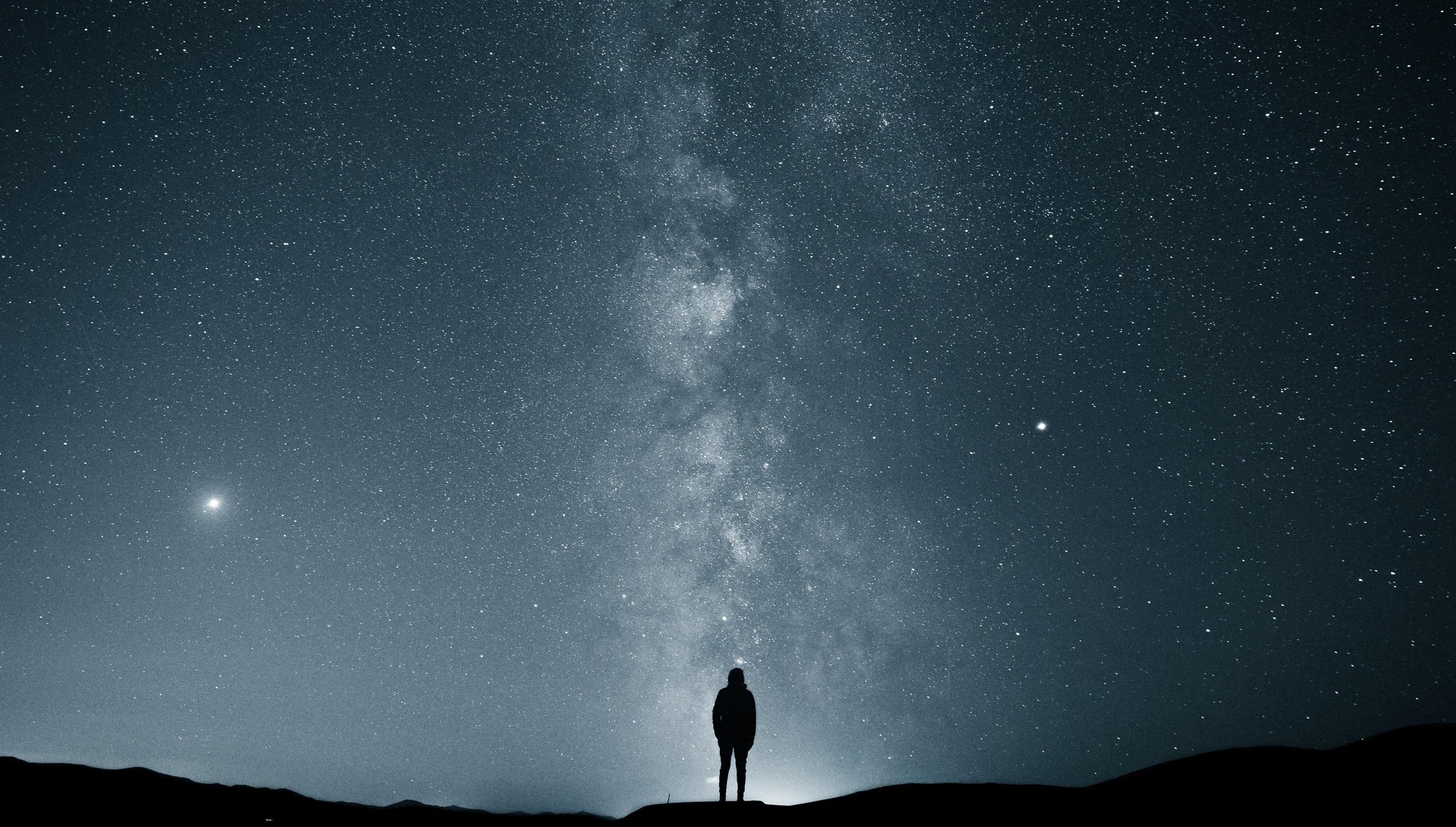 Wallpaper stars milky way alone landscape night sky - Space night sky wallpaper ...