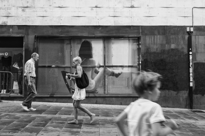 Wallpaper Street Boy People Woman Man Monochrome