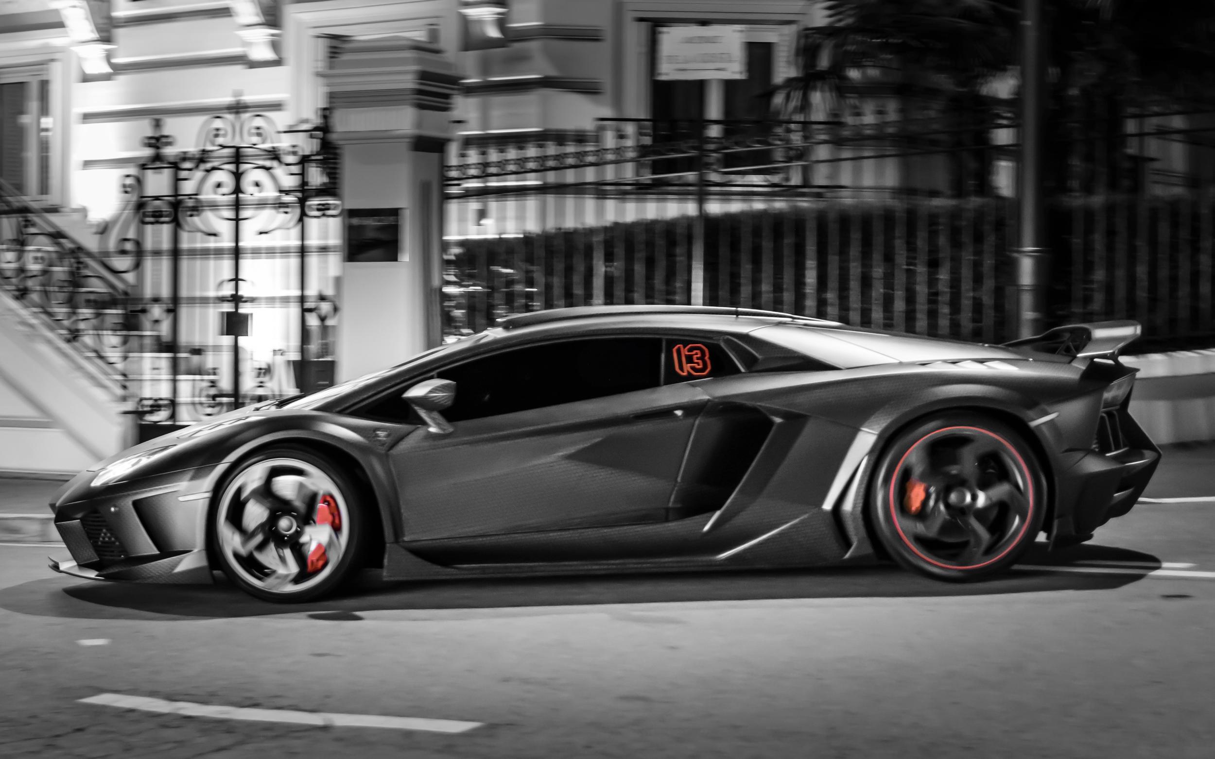 Wallpaper Street Lamborghini Aventador Nikon Lamborghini