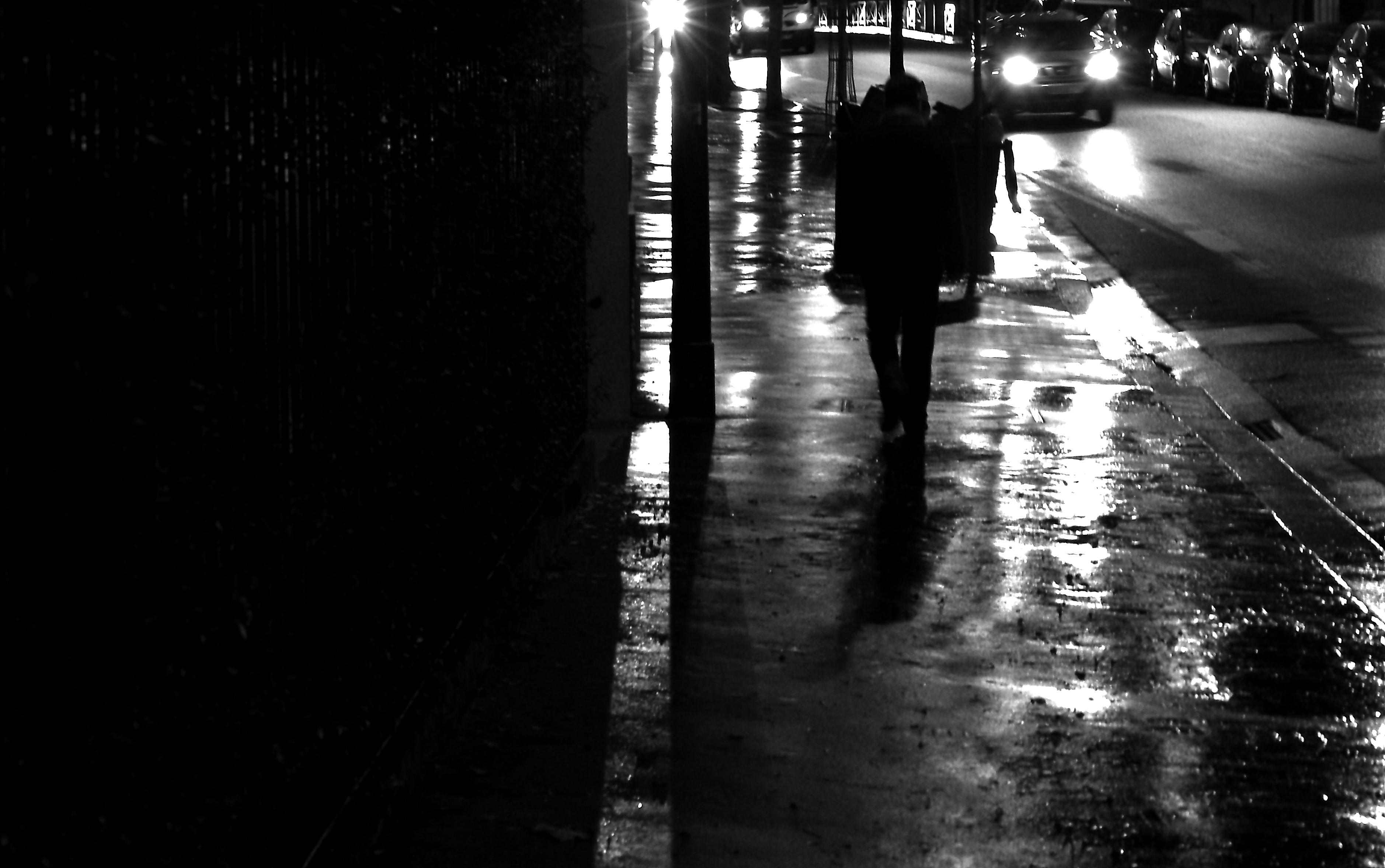 Wallpaper Street Light Night Water Urban Reflection Shadow Rain Evening Atmosphere Paris Midnight Infrastructure Alley Lighting Cars Streetview Boulevard Darkness Rue Nuit Noiretblanc Blackandwithe Photoderue Snapshot Lumiere