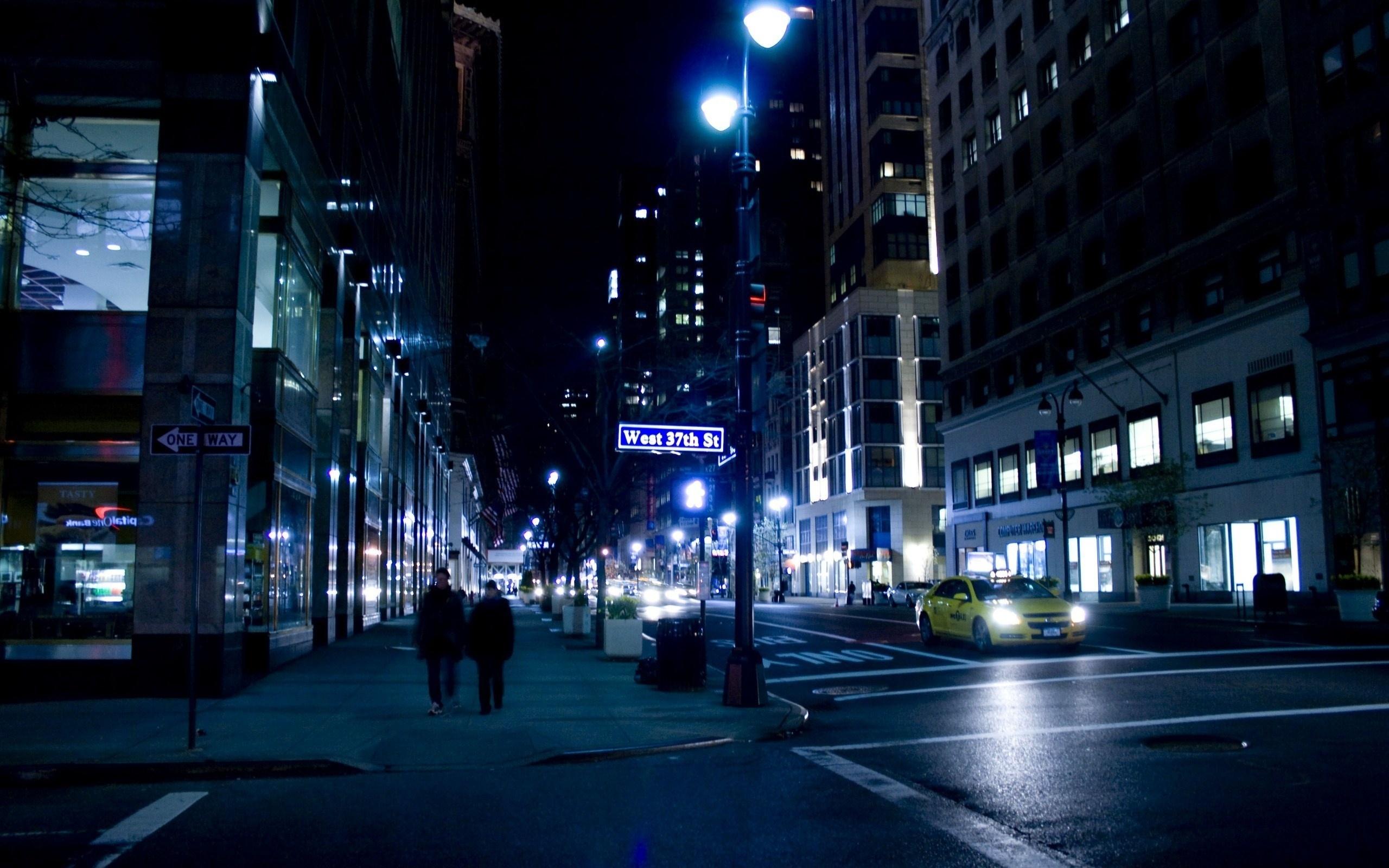 wallpaper street light city cityscape night reflection road