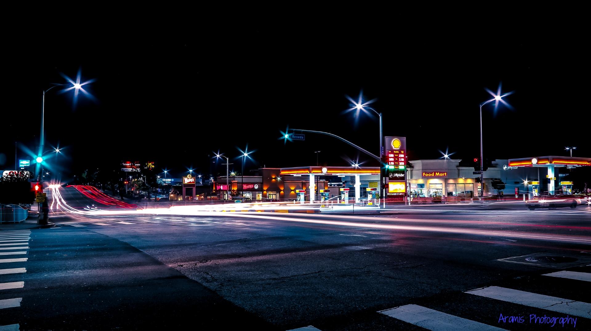 Wallpaper Street Light Dark City Cityscape Night