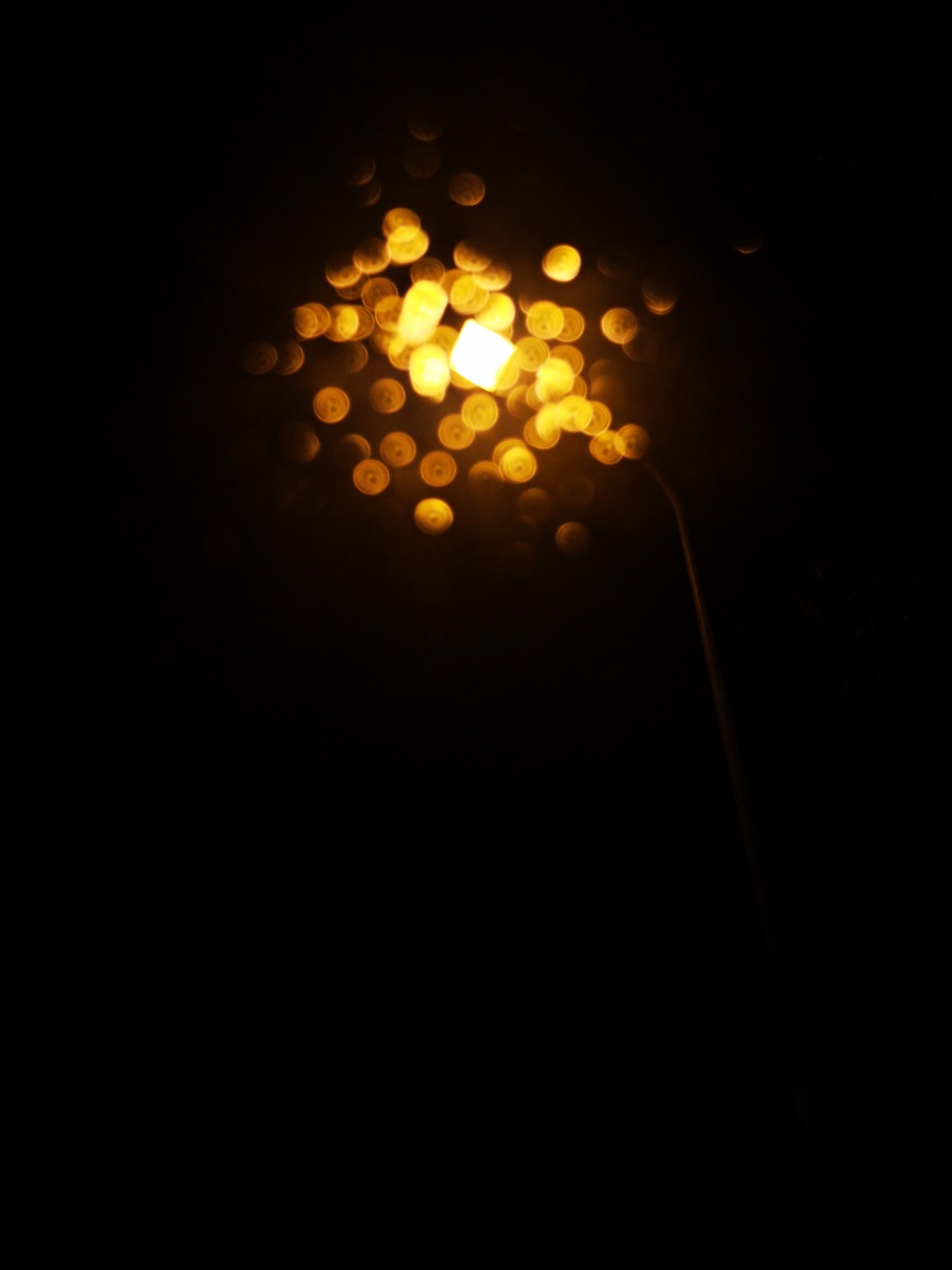 Wallpaper Street Light Lamp Dark Black 3840x5120