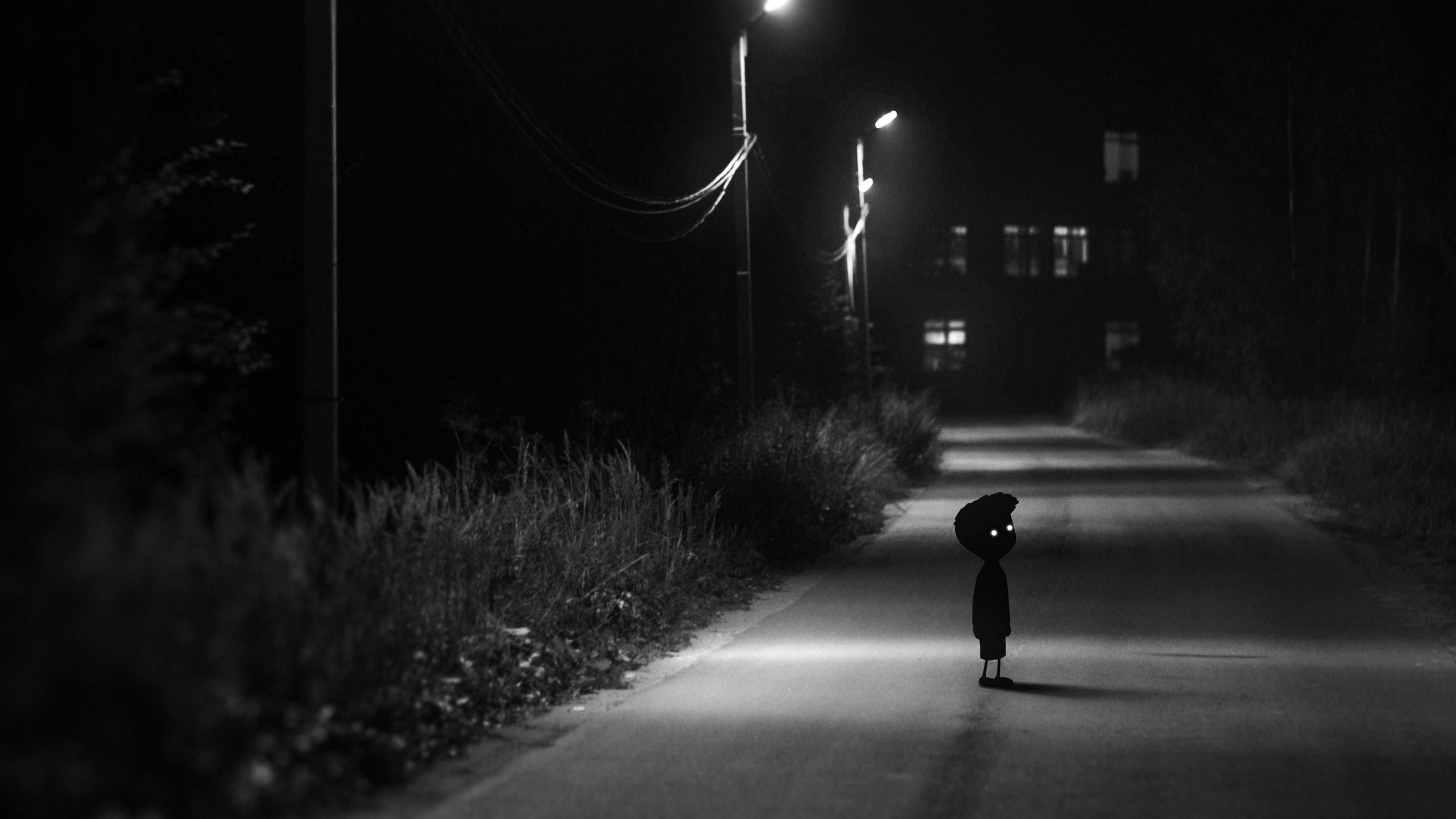 Wallpaper Street Light Night Shadow Limbo Midnight