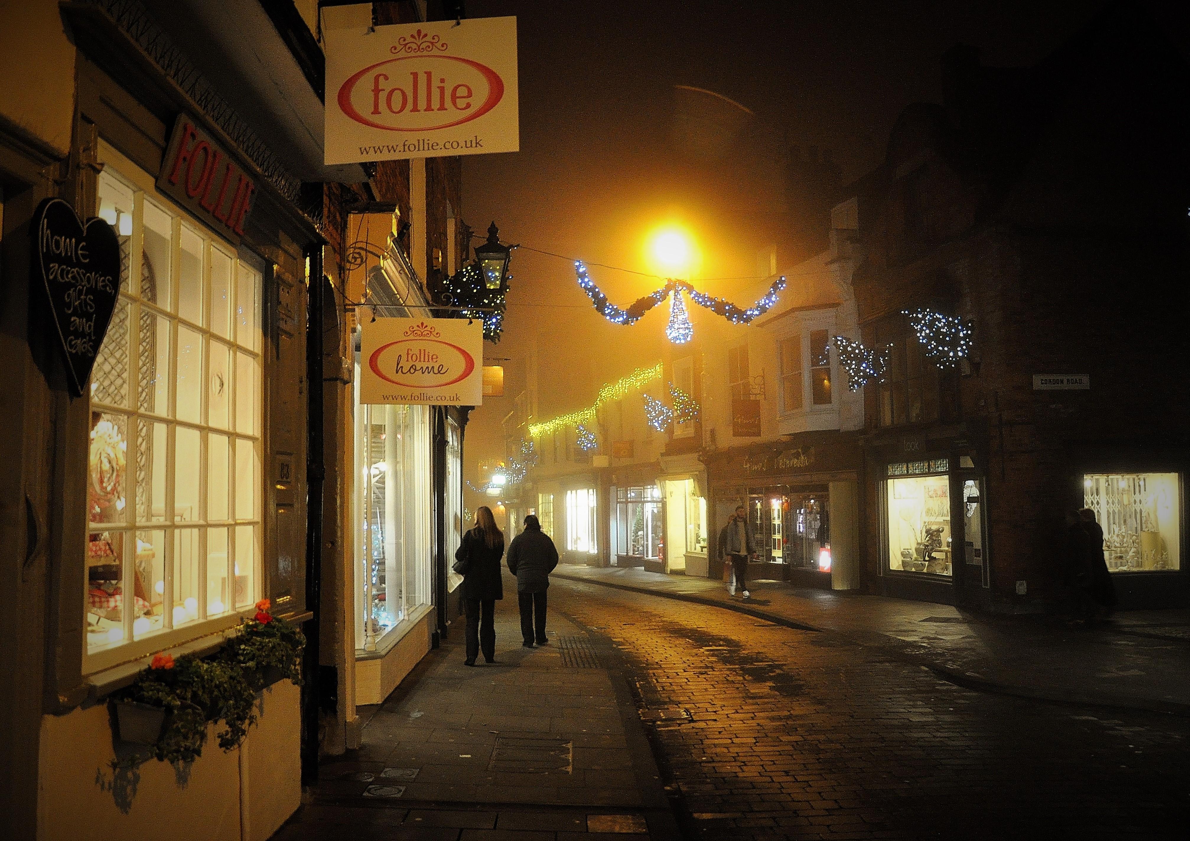Wallpaper : street, night, road, England, evening, door, British