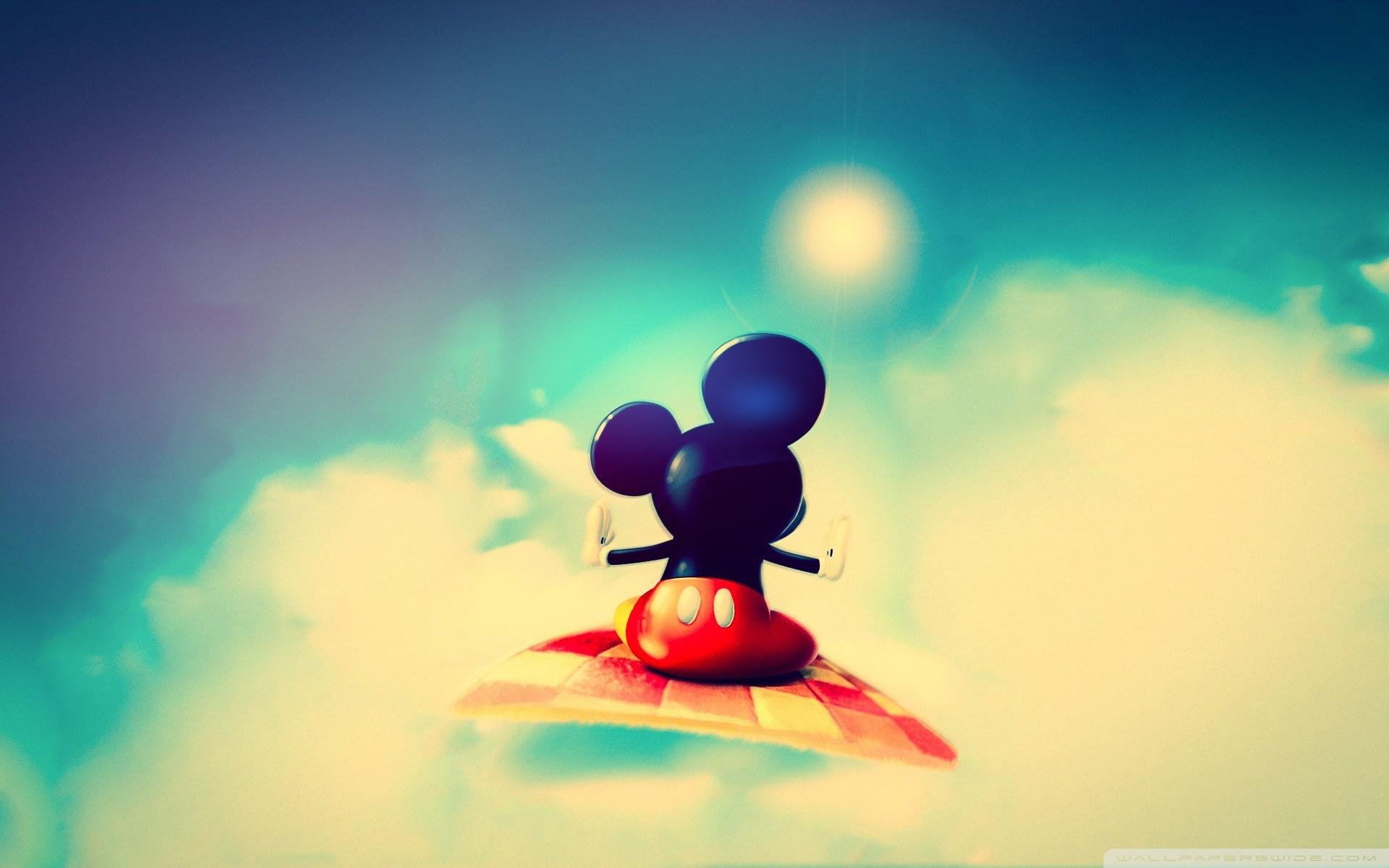 デスクトップ壁紙 日光 ミッキーマウス 赤 空 青 サークル