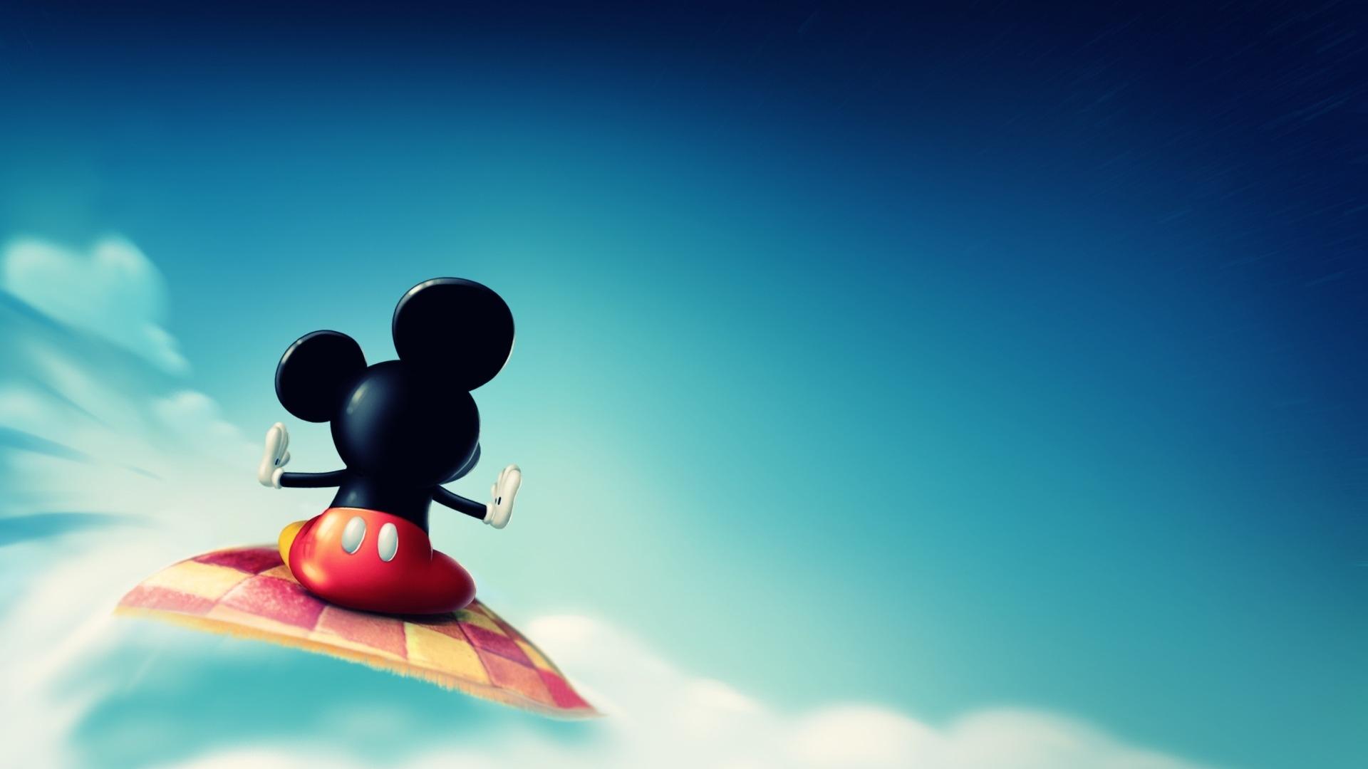 Hình nền : Ánh sáng mặt trời, chuột Mickey, Bầu trời, màu xanh da trời,  Bay, Ảnh chụp màn hình, Hình nền máy tính, Bầu khí quyển của trái đất, Toon  1920x1080 -