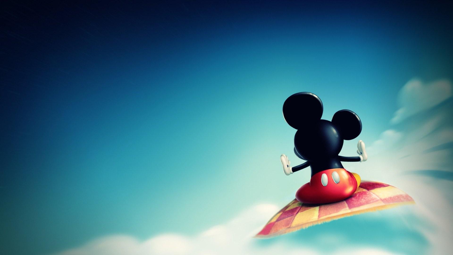 デスクトップ壁紙 日光 ミッキーマウス 空 青 色 スクリーン