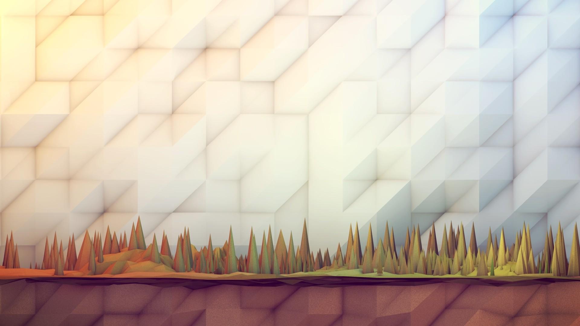 Wallpaper Sinar Matahari Abstrak 3D Dinding Kayu