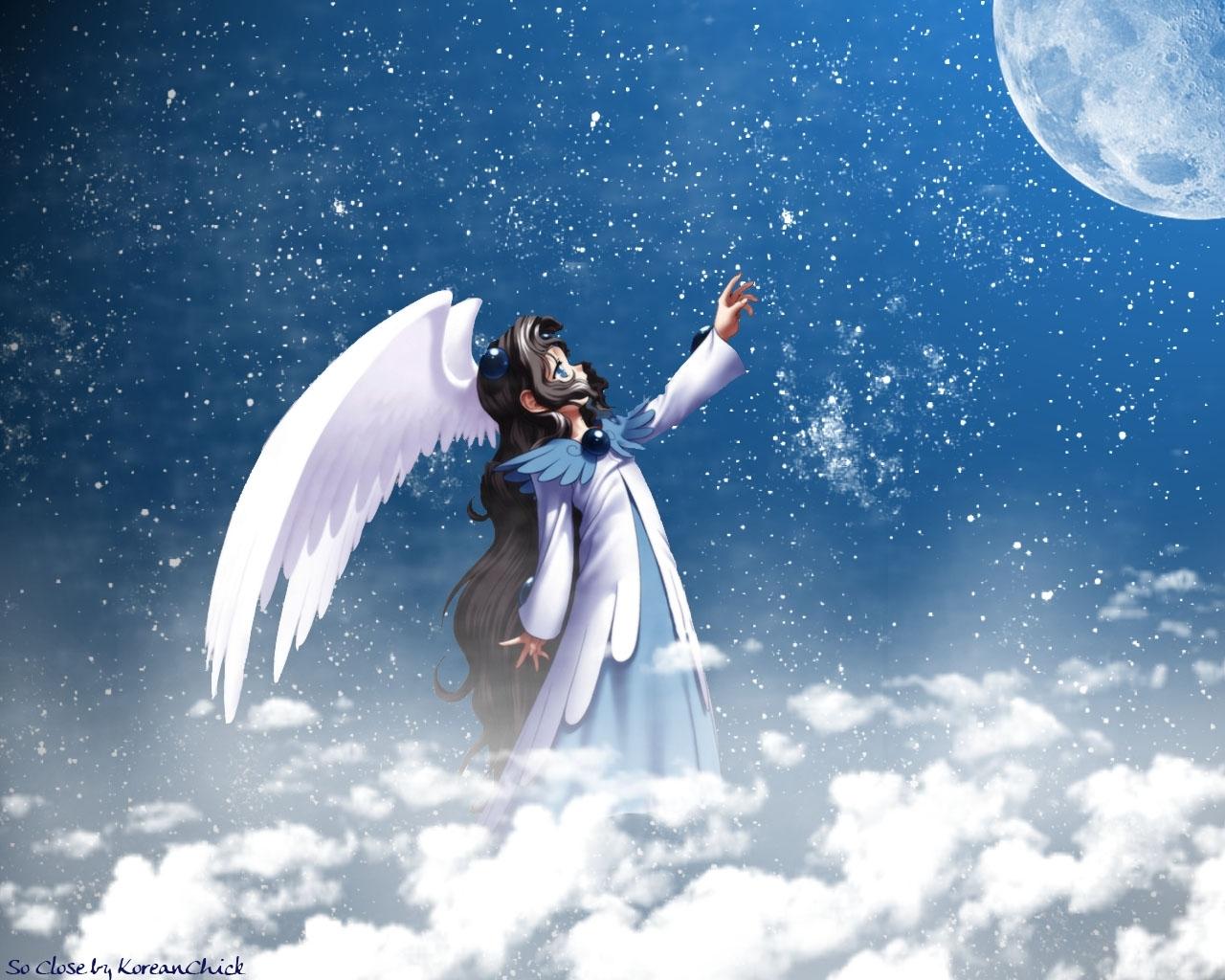Ангел в ночном небе картинки