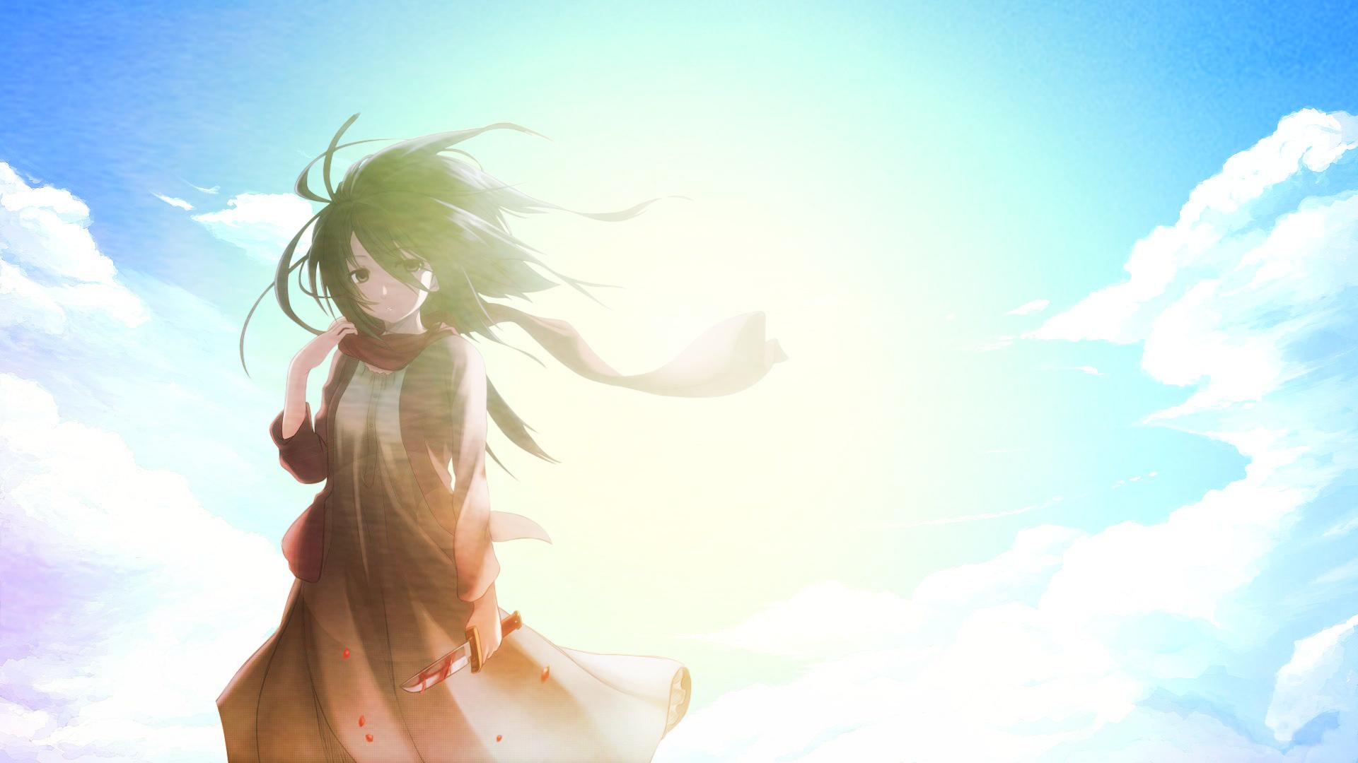 Wallpaper Sunlight Anime Sky Shingeki No Kyojin Misaka