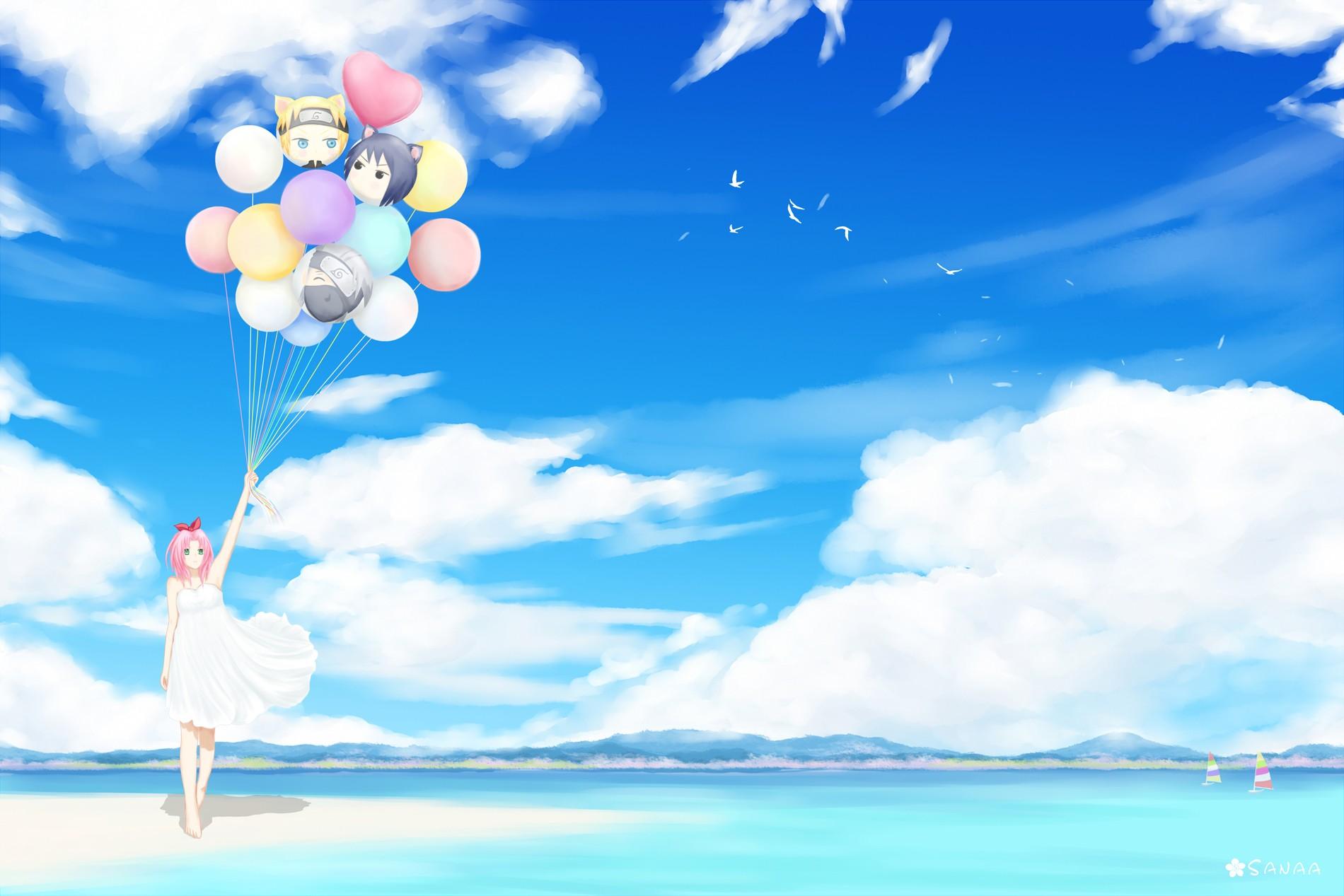 Top Wallpaper Naruto Blue - sunlight-birds-anime-anime-girls-sky-clouds-blue-Naruto-Shippuuden-Haruno-Sakura-balloon-Toy-cloud-flower-computer-wallpaper-221080  2018_1001865.jpg