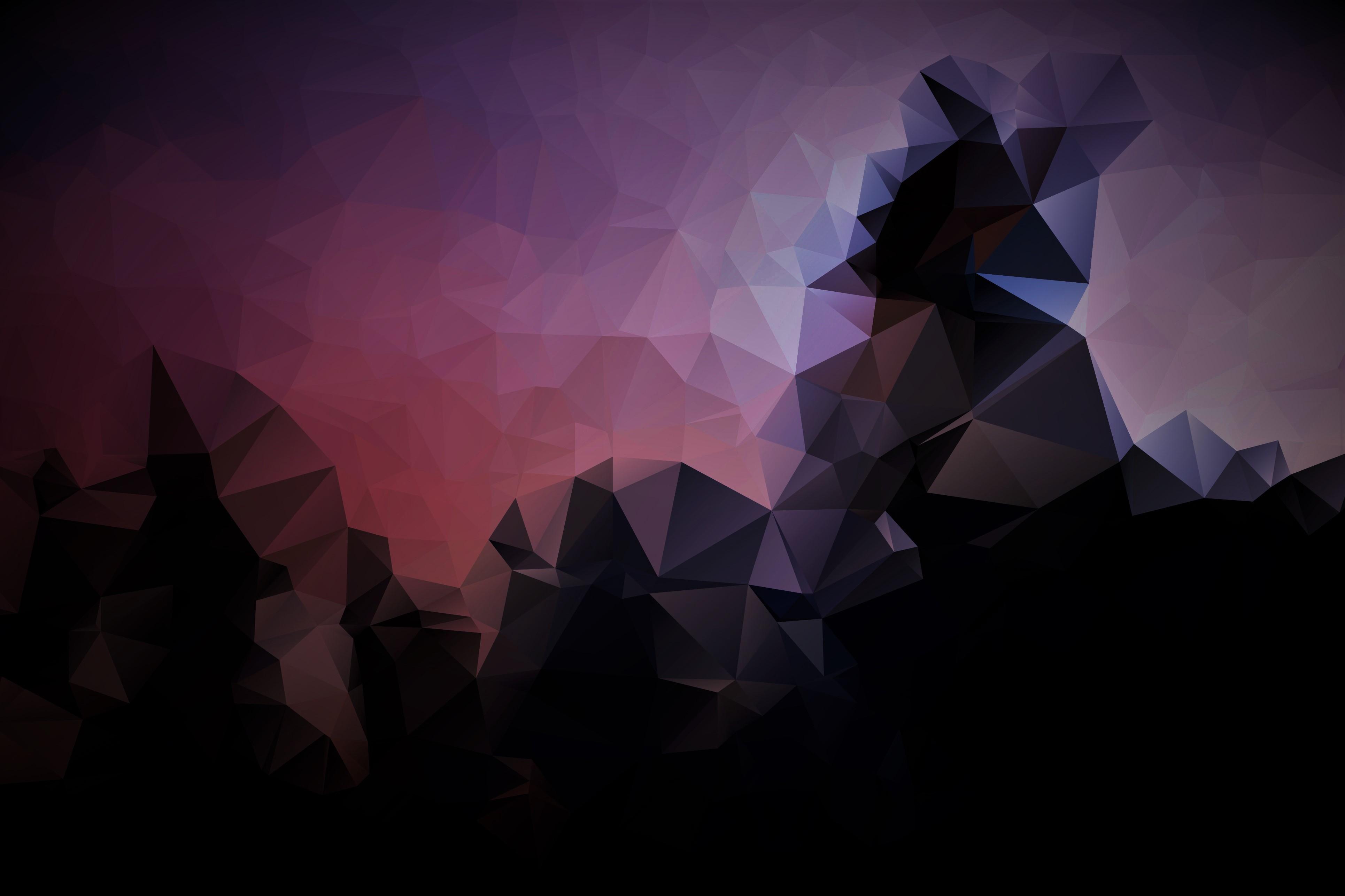 Wallpaper Sunlight Black Abstract 3d Symmetry Triangle