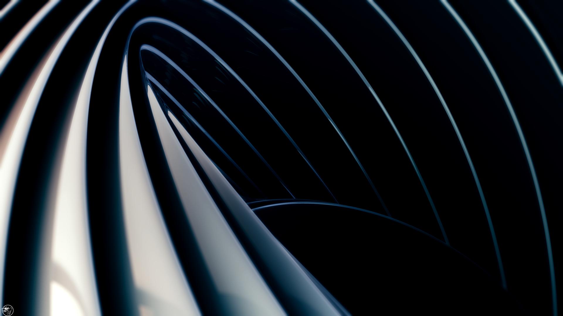 デスクトップ壁紙 日光 デジタルアート ダーク 抽象 3d アートワーク スパイラル 対称 サークル 合理化された 波 形状 ライン 闇 翼 スクリーンショット コンピュータの壁紙 黒と白 モノクロ写真 閉じる 19x1080 Tcbfergie