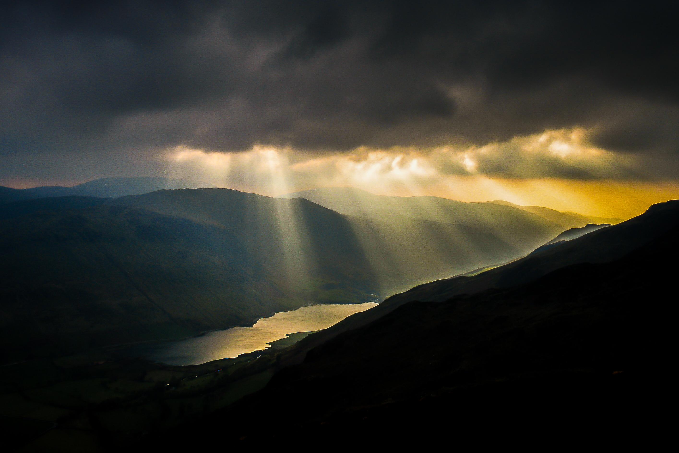 Wallpaper : sunlight, black, mountains, dark, sunset, sea ...