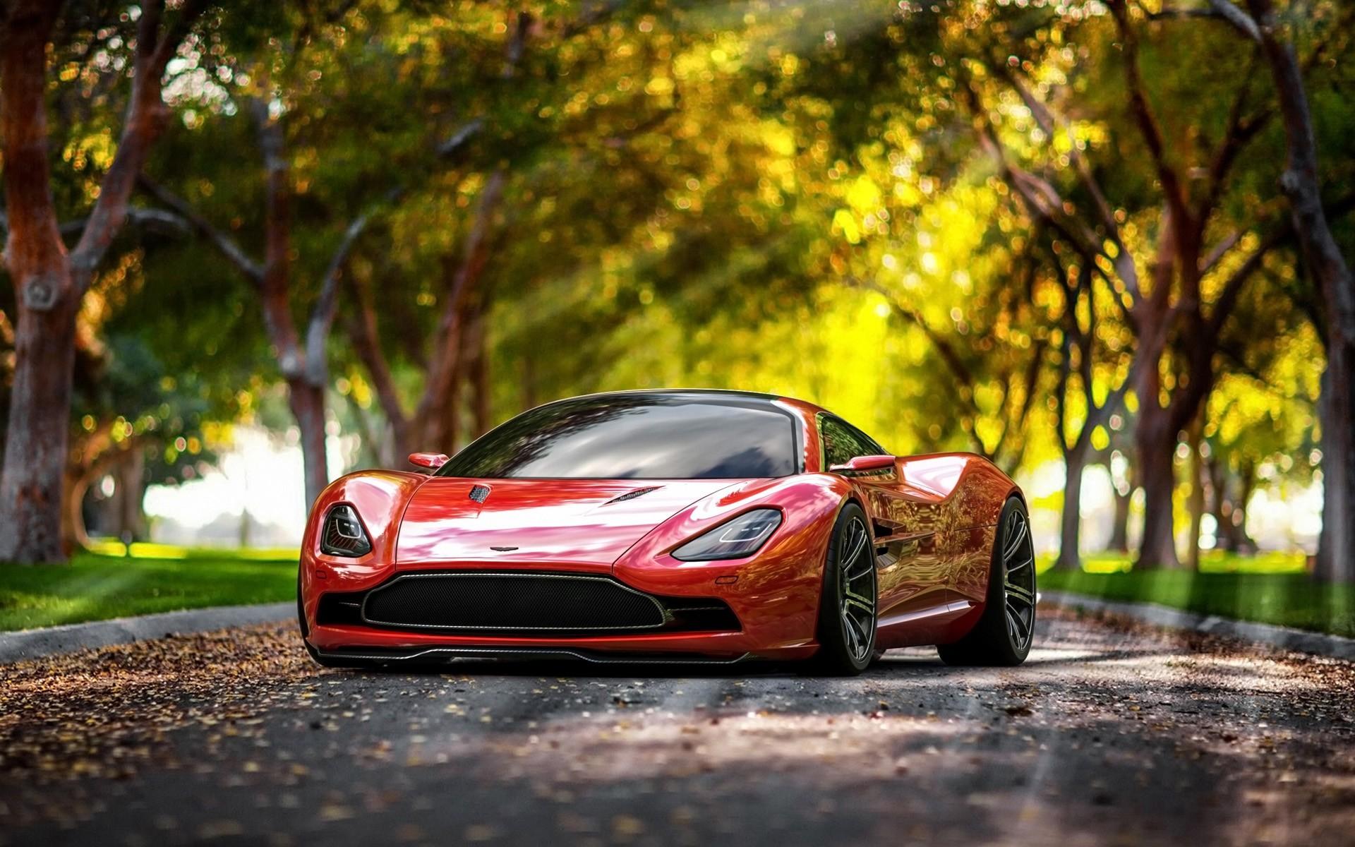 Sunlight Car Concept Cars Vehicle Red Cars Bokeh Sports Car Aston Martin  Performance Car Aston Martin