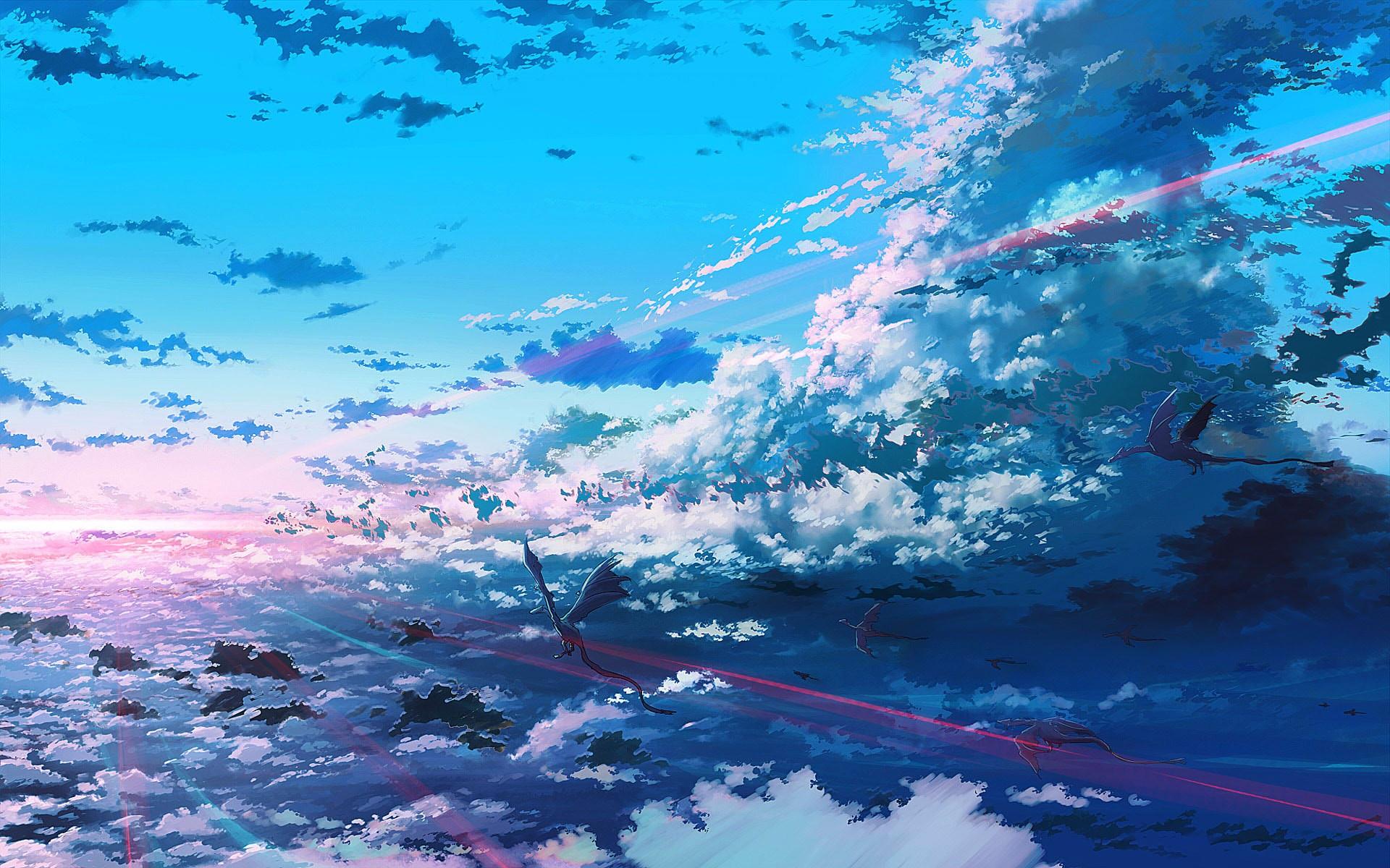 Wallpaper Sunlight Digital Art Fantasy Art Anime Sky Frost