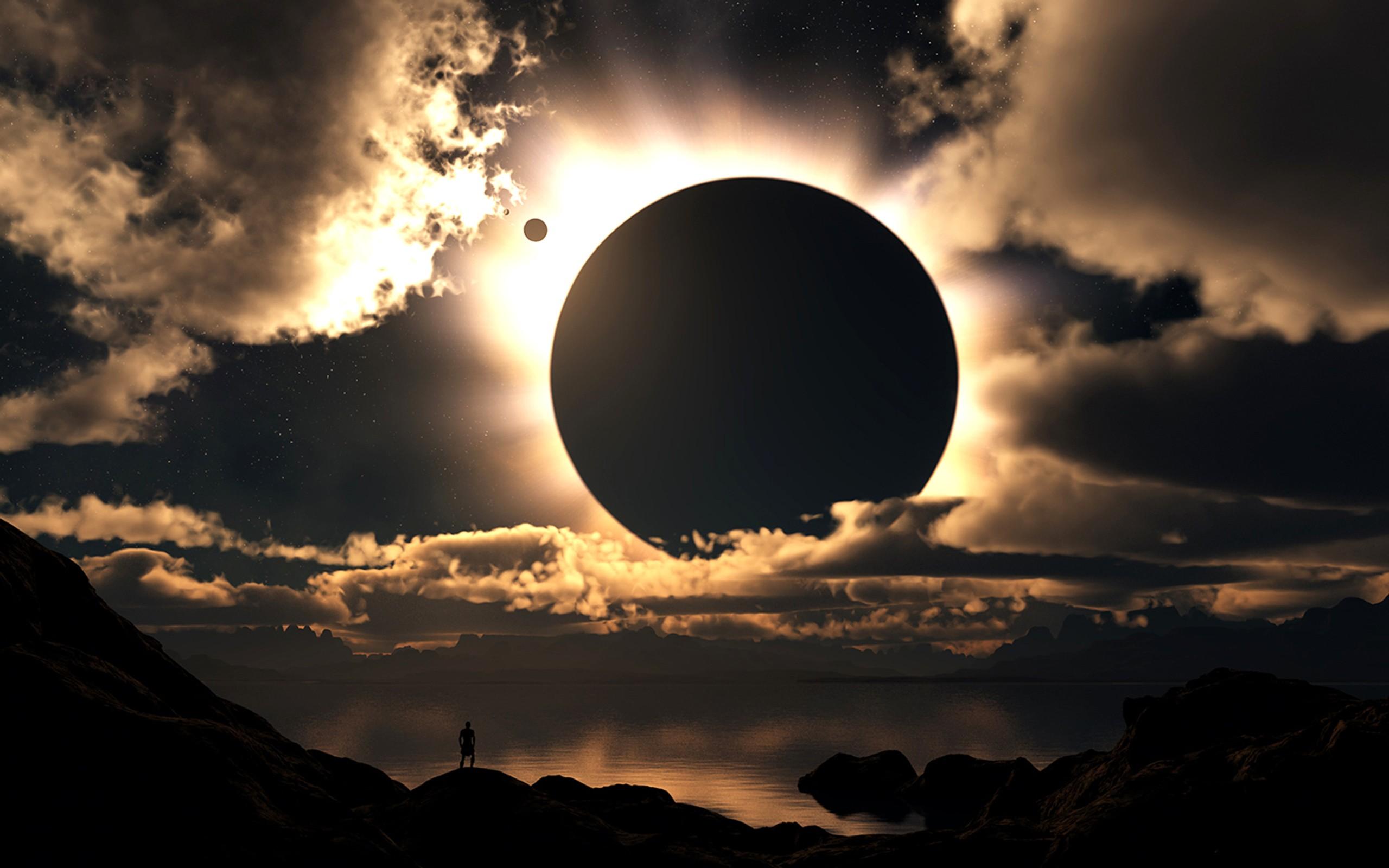 Papel De Parede Luz Solar Arte Digital Por Do Sol Mar Noite
