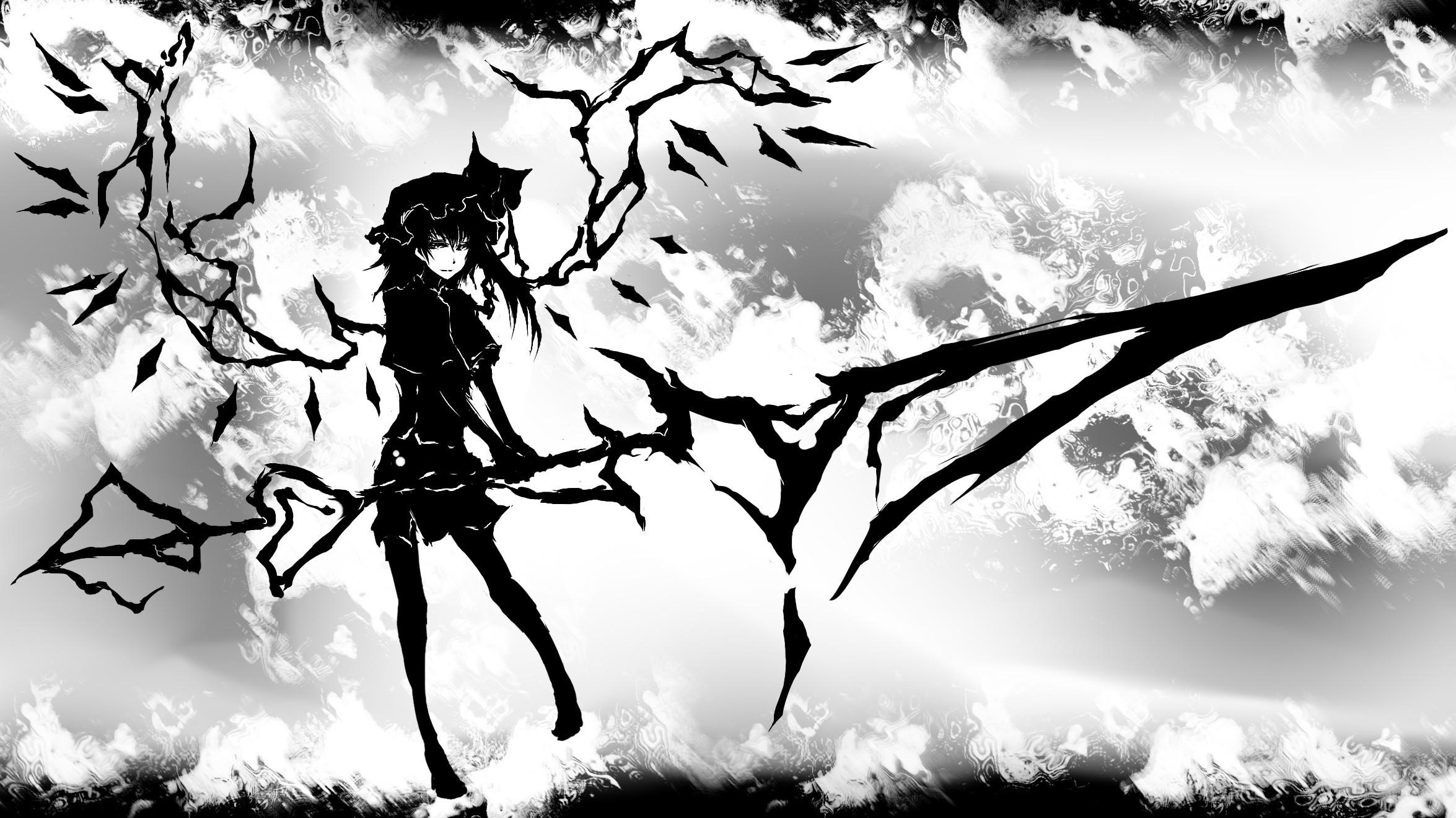 Картинки аниме на рабочий стол черно белые