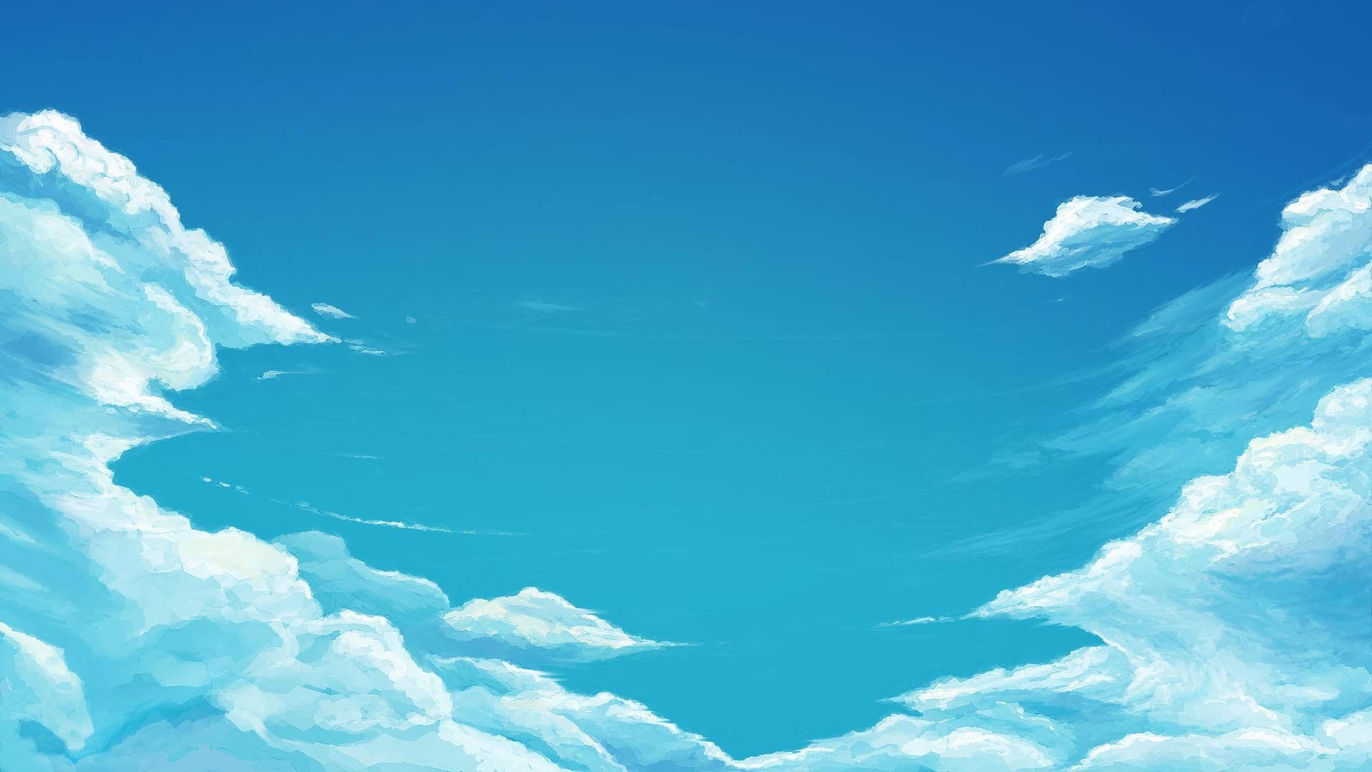 Fondos De Pantalla Luz De Sol Dibujo Cielo Nubes Azul